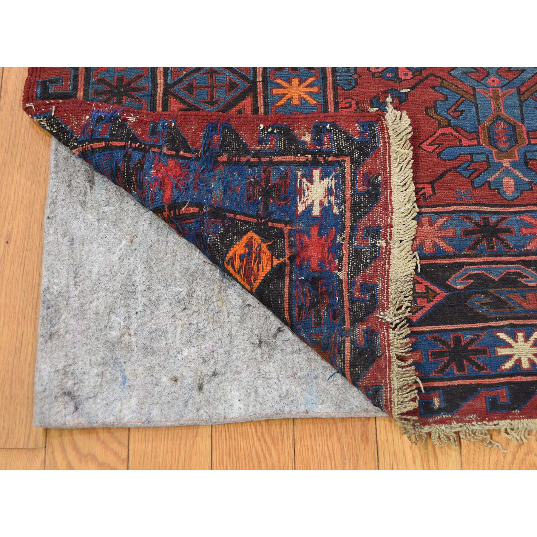 10-1 x13-7  Antique Caucasian Soumak Good Condition Pure Wool Hand-Knotted Oriental Rug