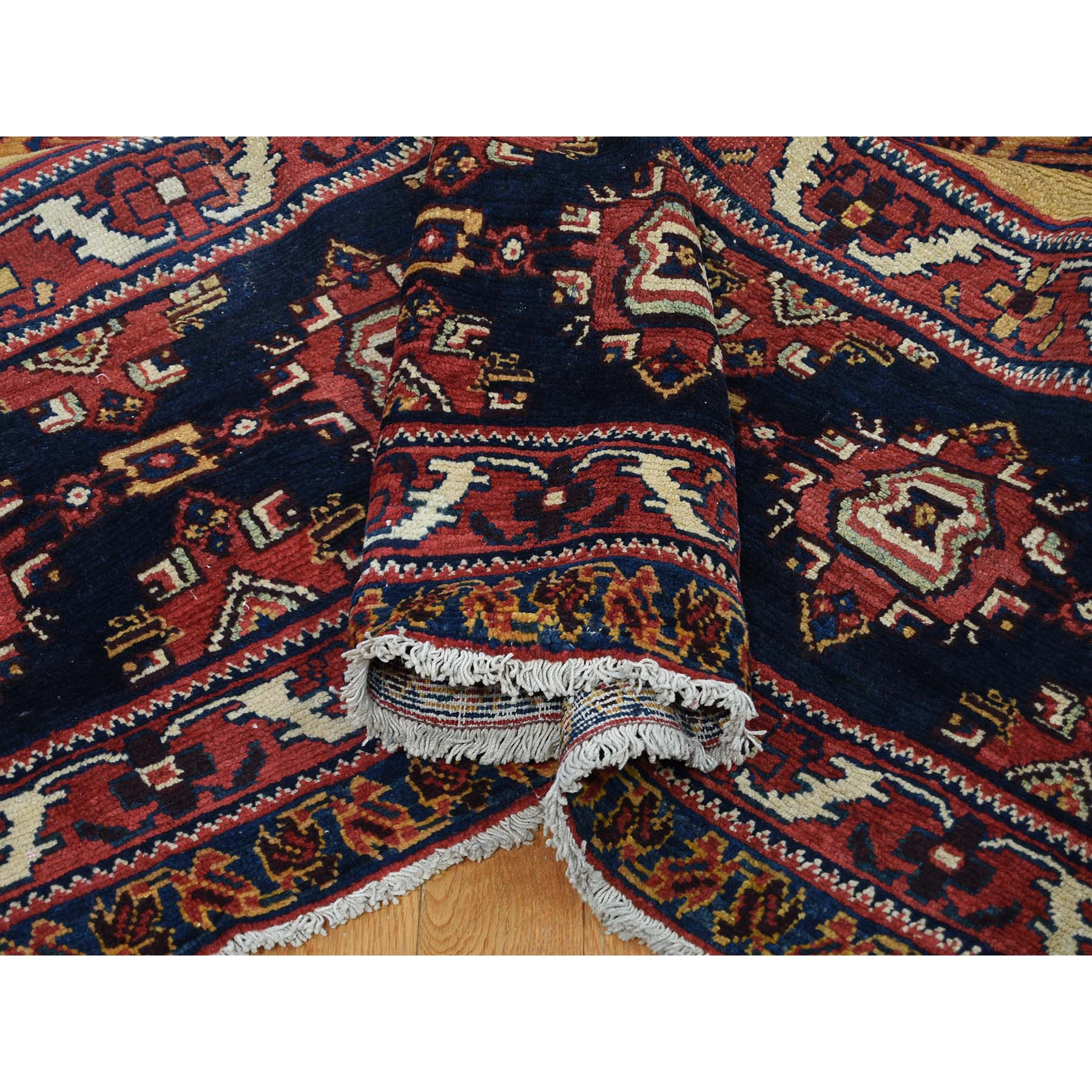 10-4 x17-7  Antique Persian Gallery Size Bakhtiari Pure Wool Hand-Knotted Oriental Rug