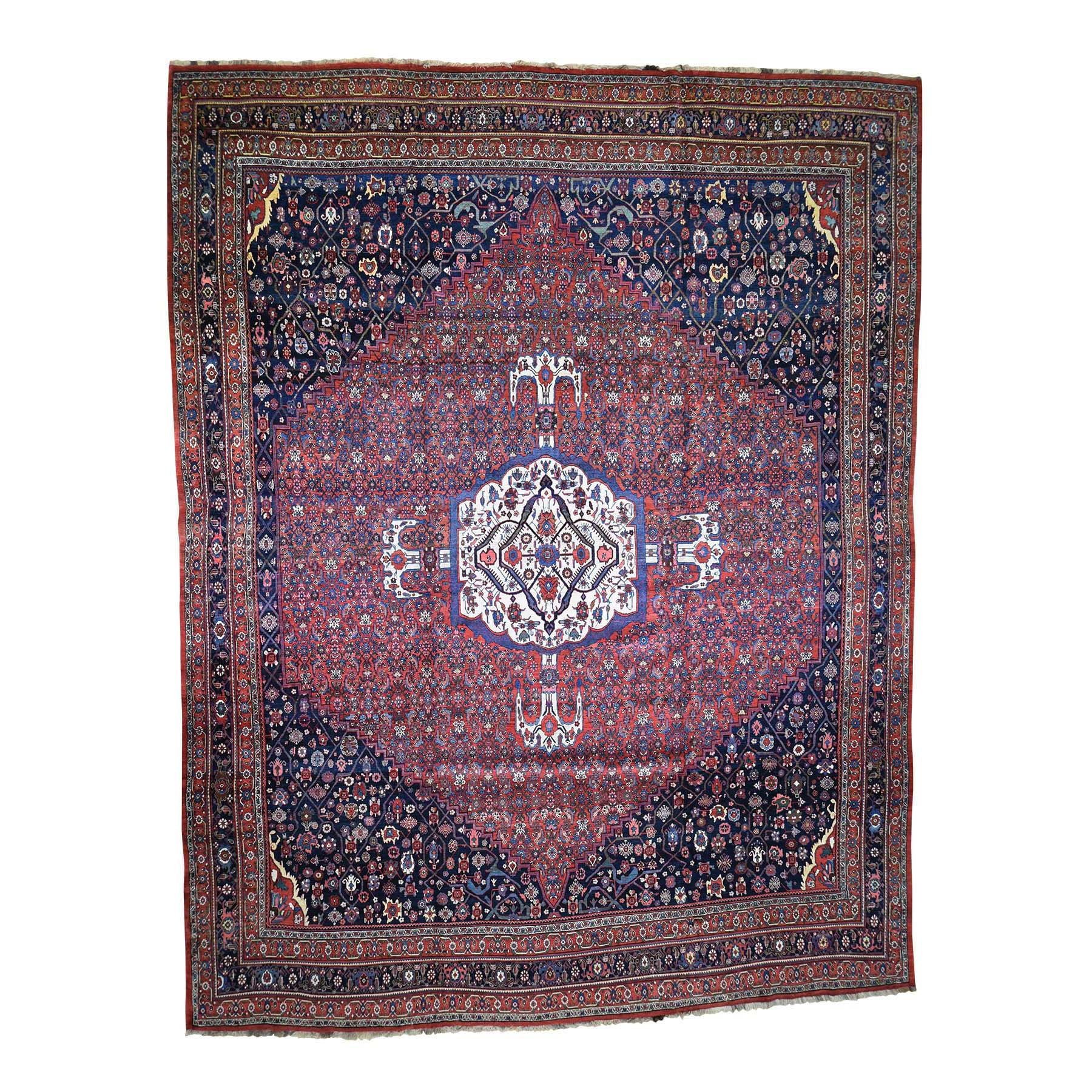 "14'6""X19' Antique Persian Bijar Pure Wool Exc Condition Oversize Pure Wool Hand-Knotted Oriental Rug moadd876"