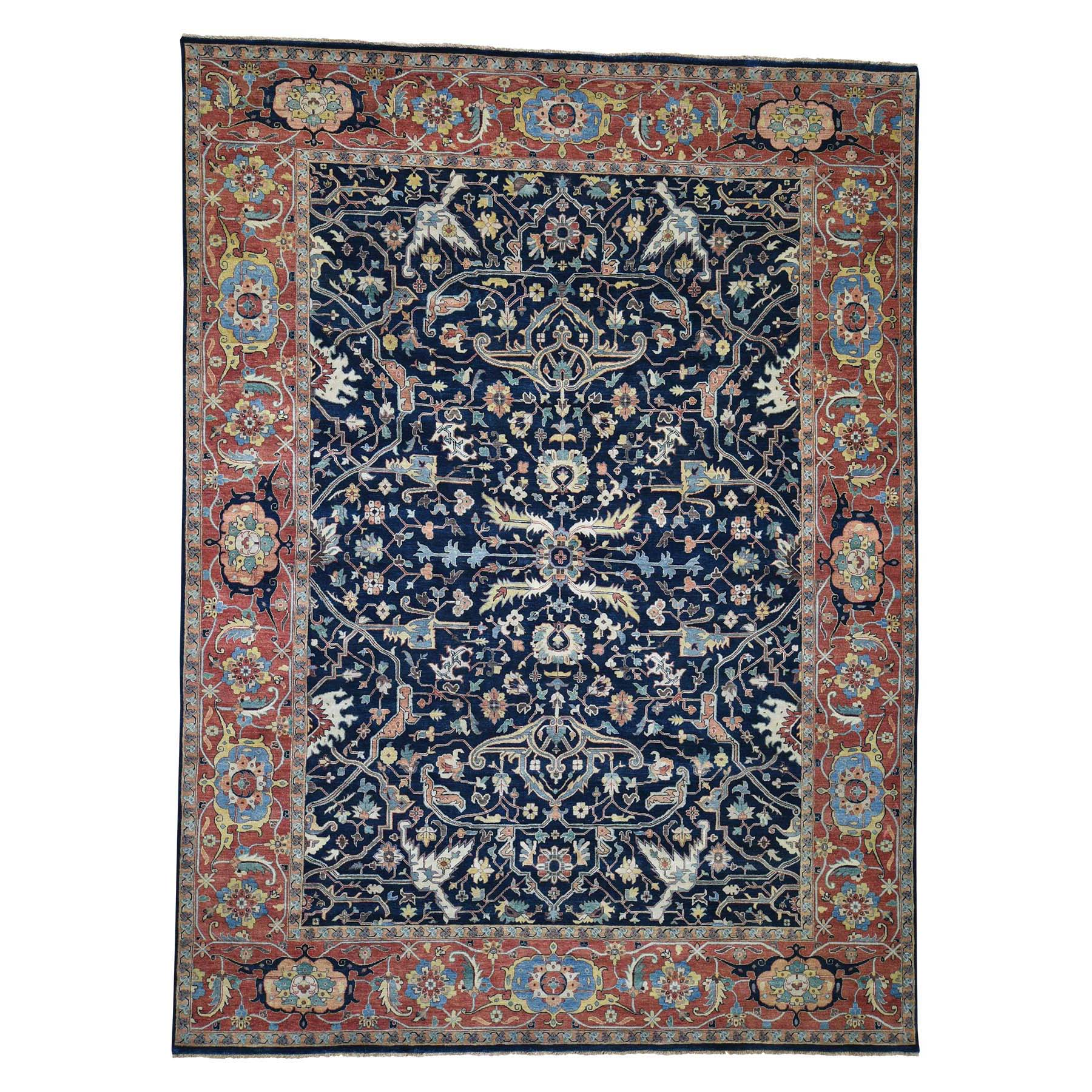 "8'10""X11'10"" Heriz Re-Creation All Over Design Pure Wool Hand-Knotted Oriental Rug moadd9e8"