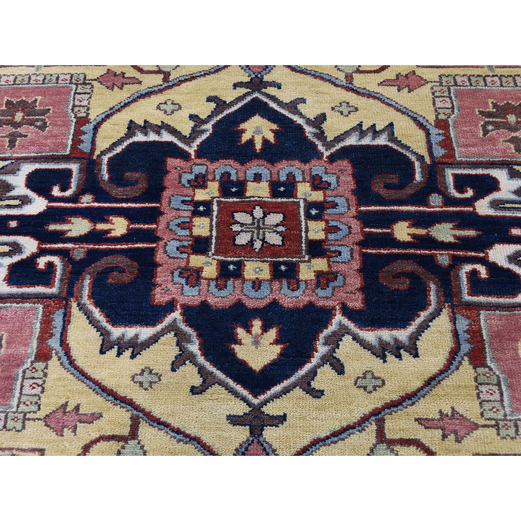 8-9 x11-9  Antiqued Heriz Pure Wool Hand Knotted Oriental Rug