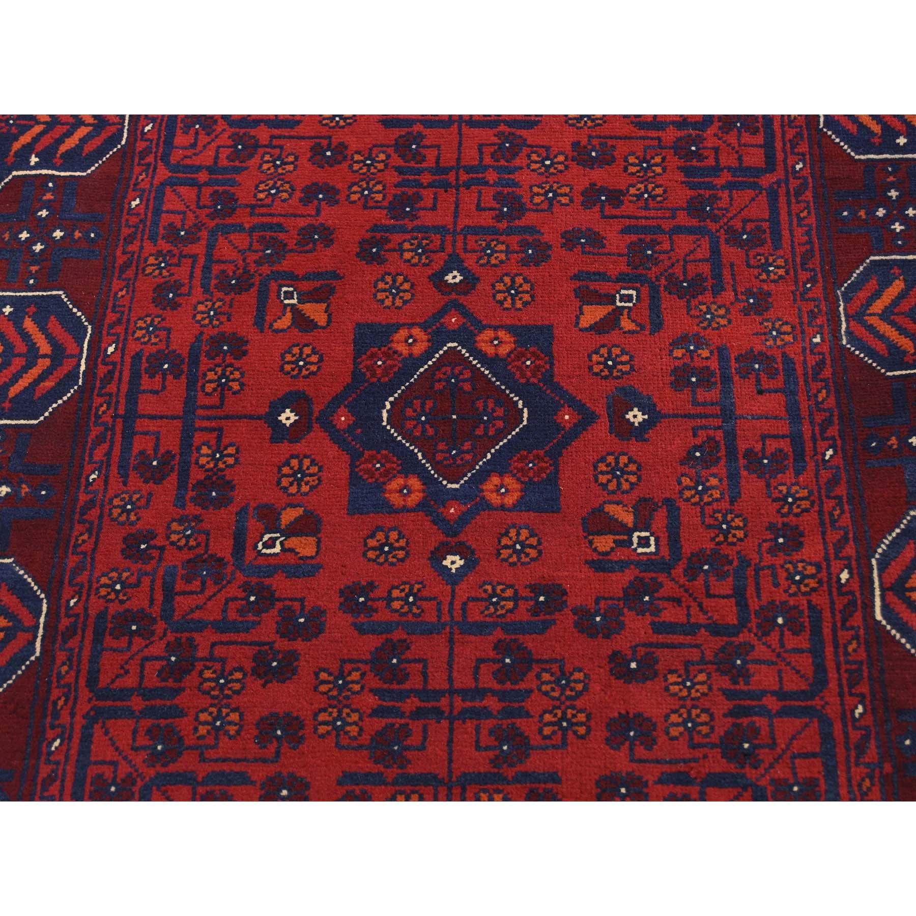 2-6 x31-8  Afghan Khamyab Silky Wool XL Runner Hand-Knotted Oriental Rug