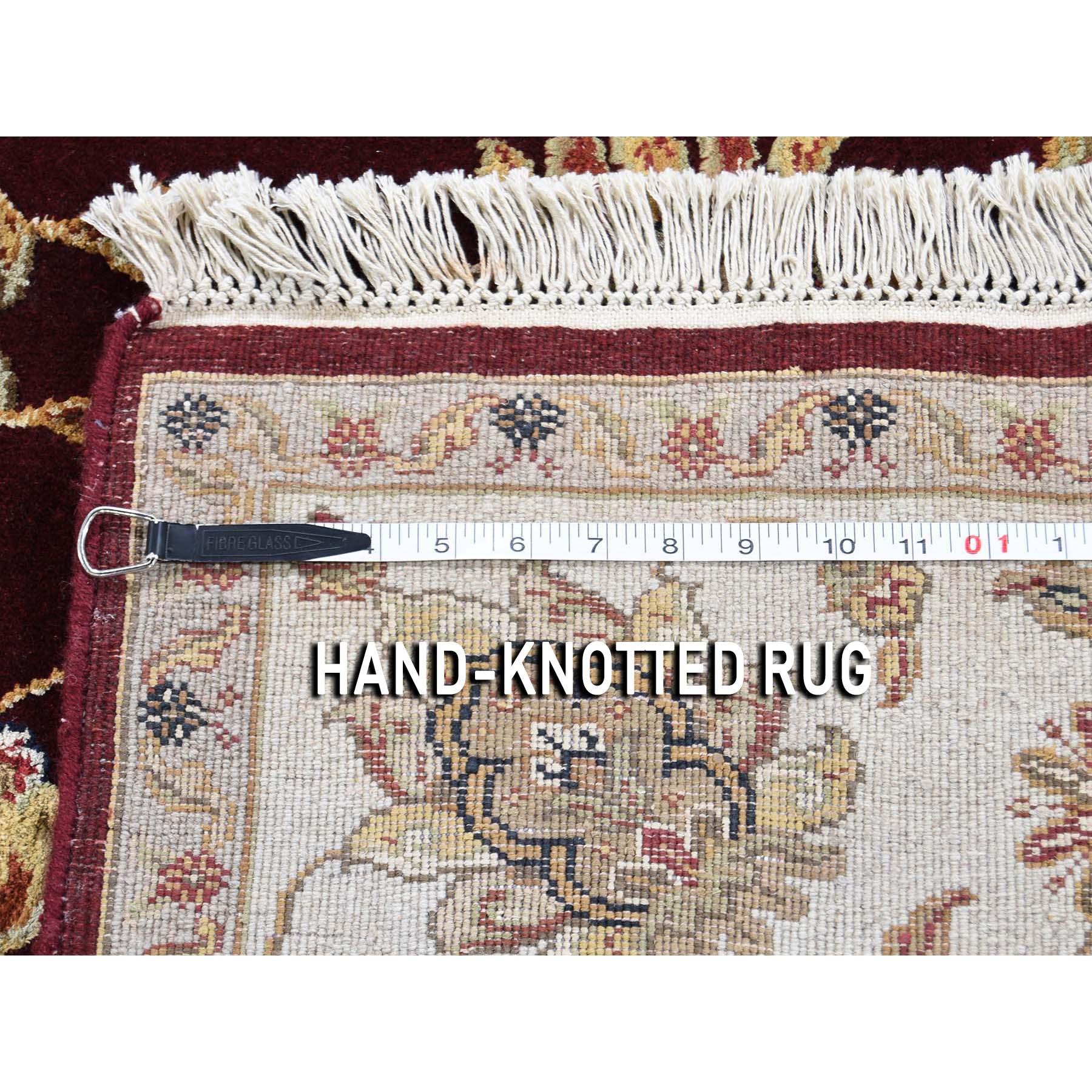 6-x9-1 Rajasthan Half Wool and Half Silk Hand-Knotted Oriental Rug