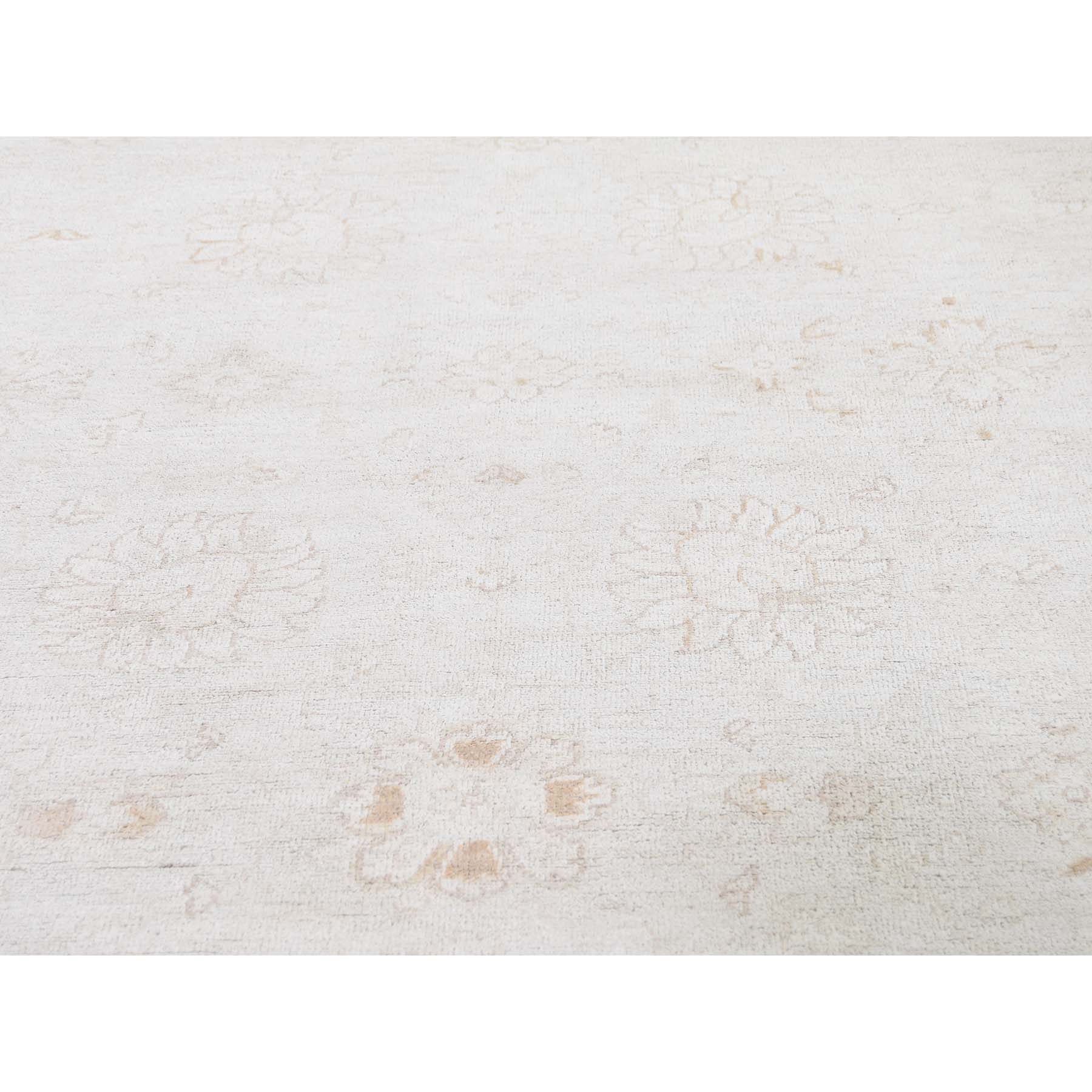 8-x9-6  White Wash Peshawar Pure Wool Hand-Knotted Oriental Rug
