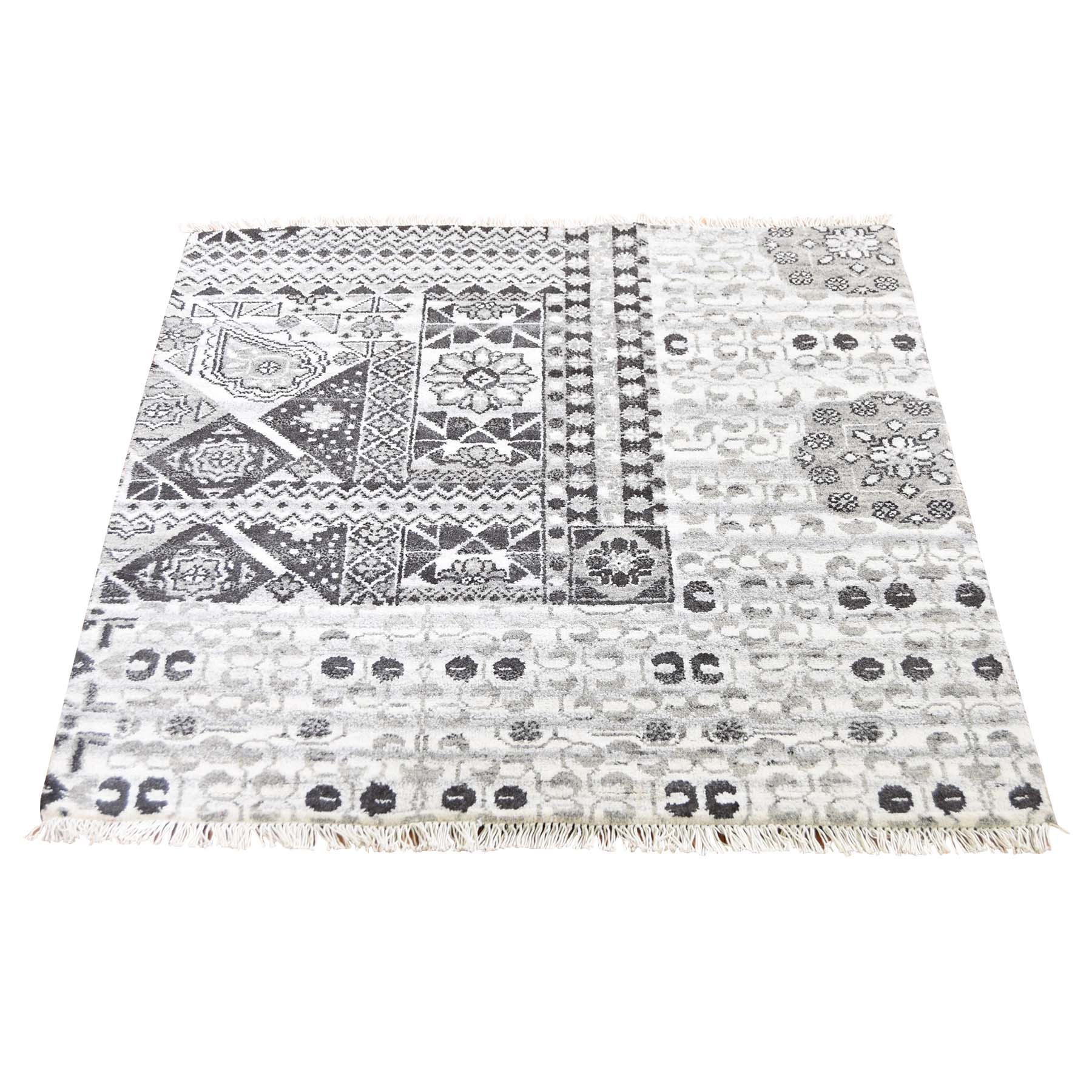 "2'8""X3' Sampler Mamluk Design Pure Wool Hand-Knotted Oriental Rug moade0b7"