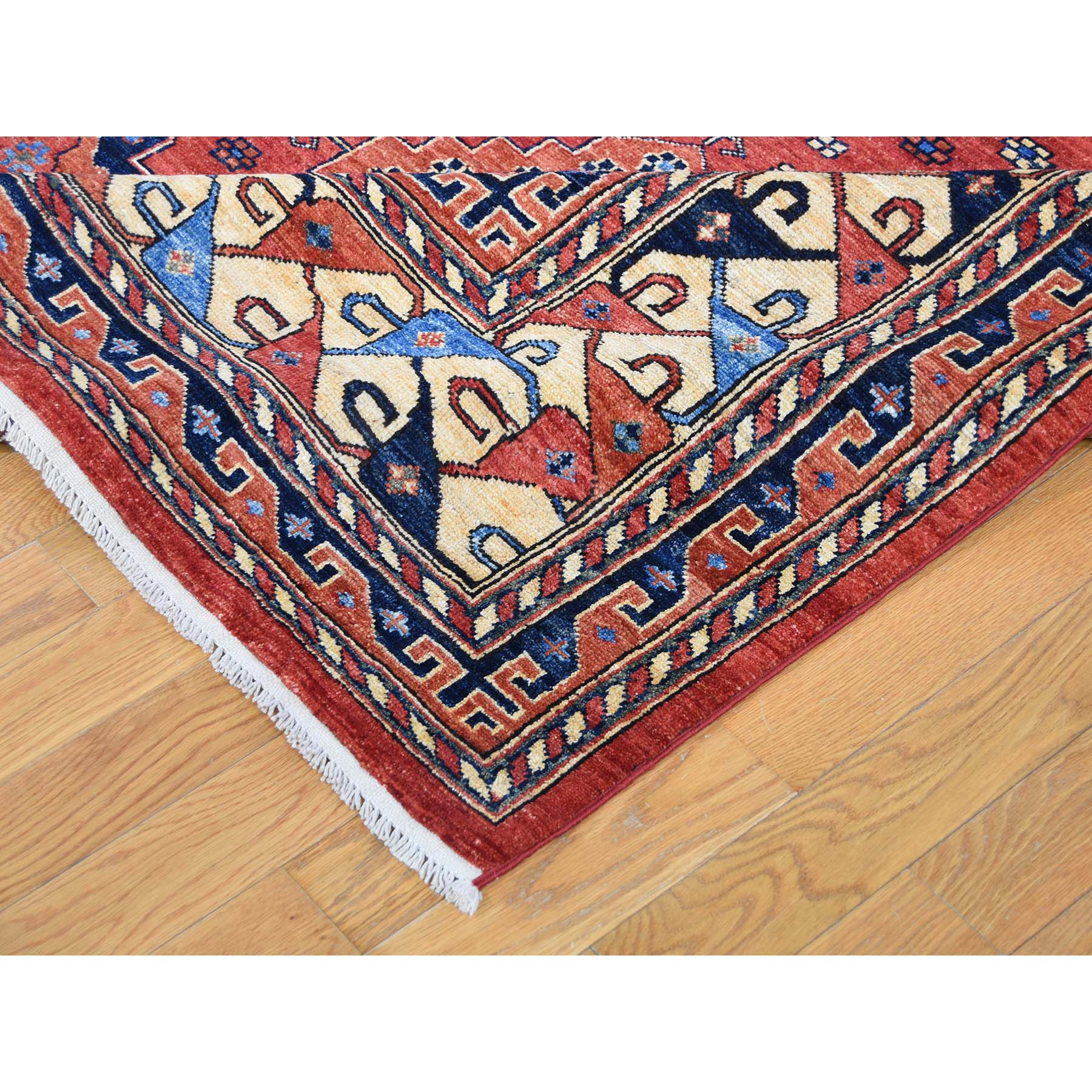 10-x14- Afghan Ersari Geometric All Over Design Pure Wool Hand-knotted Oriental Rug
