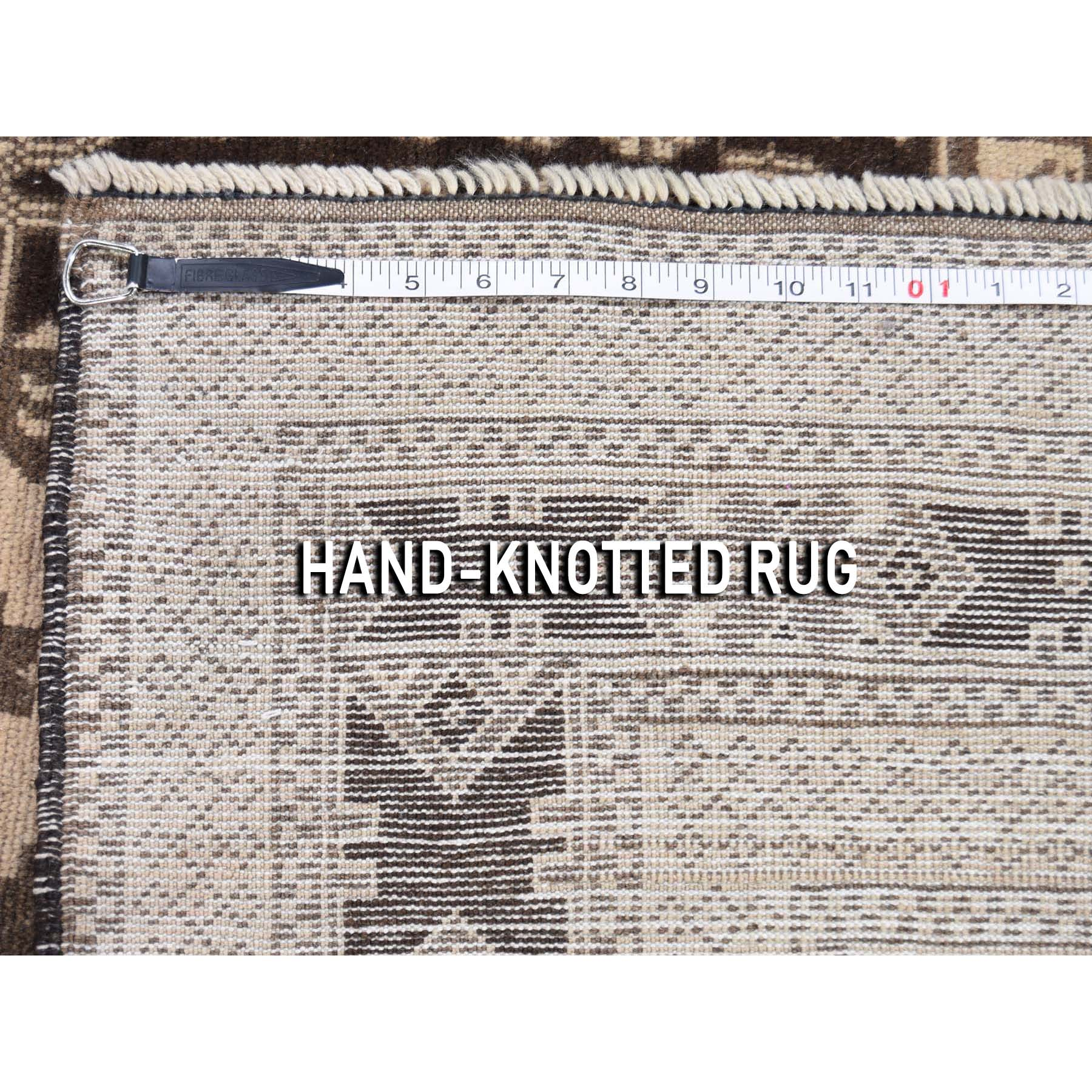 6-7 x9-8  Vintage Afghan Baluch Natural Color Hand-Knotted Pure Wool Oriental Rug