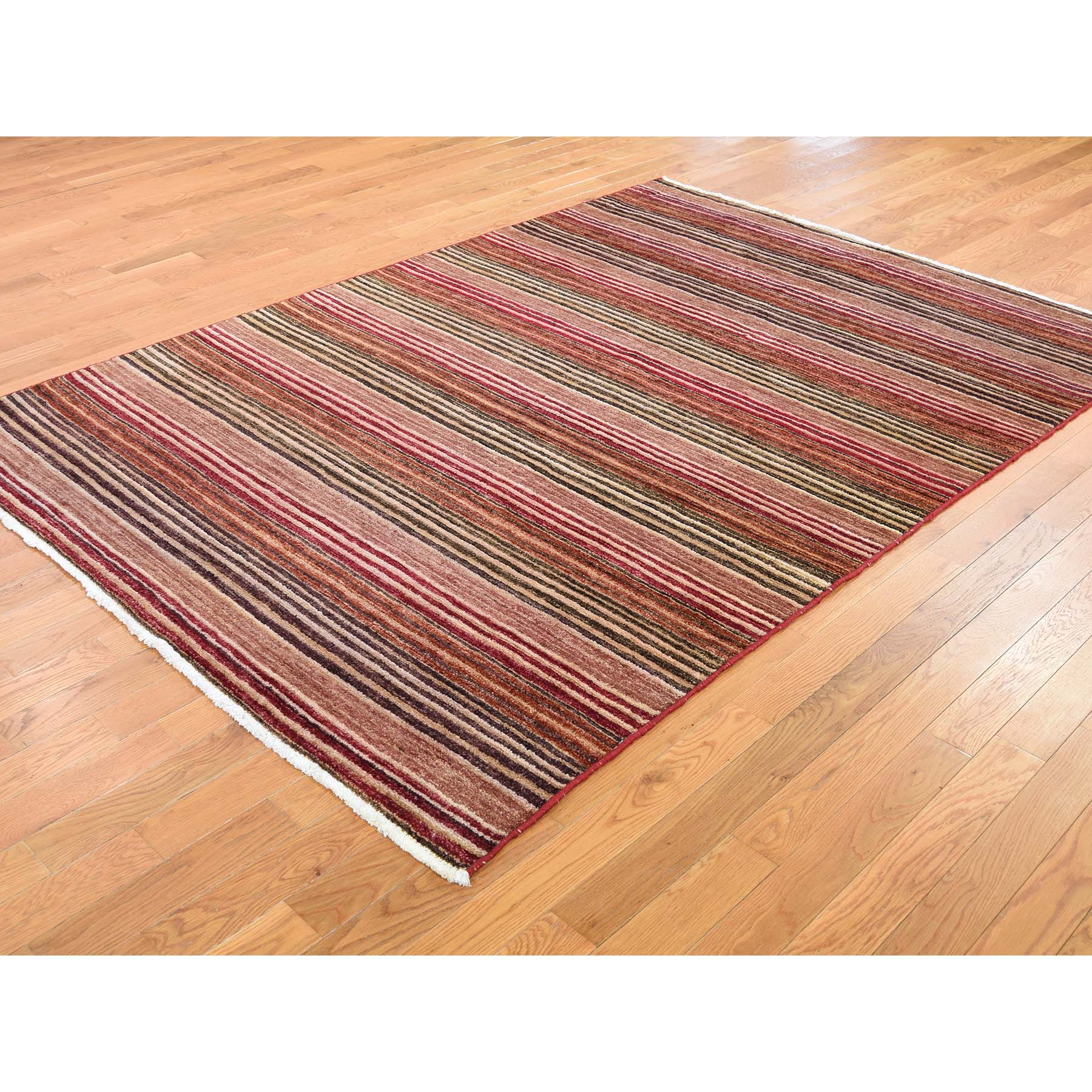 """5'8""""x7'10"""" On Clearance Pure Wool Peshawar Gabbeh Hand Knotted Oriental Rug"""