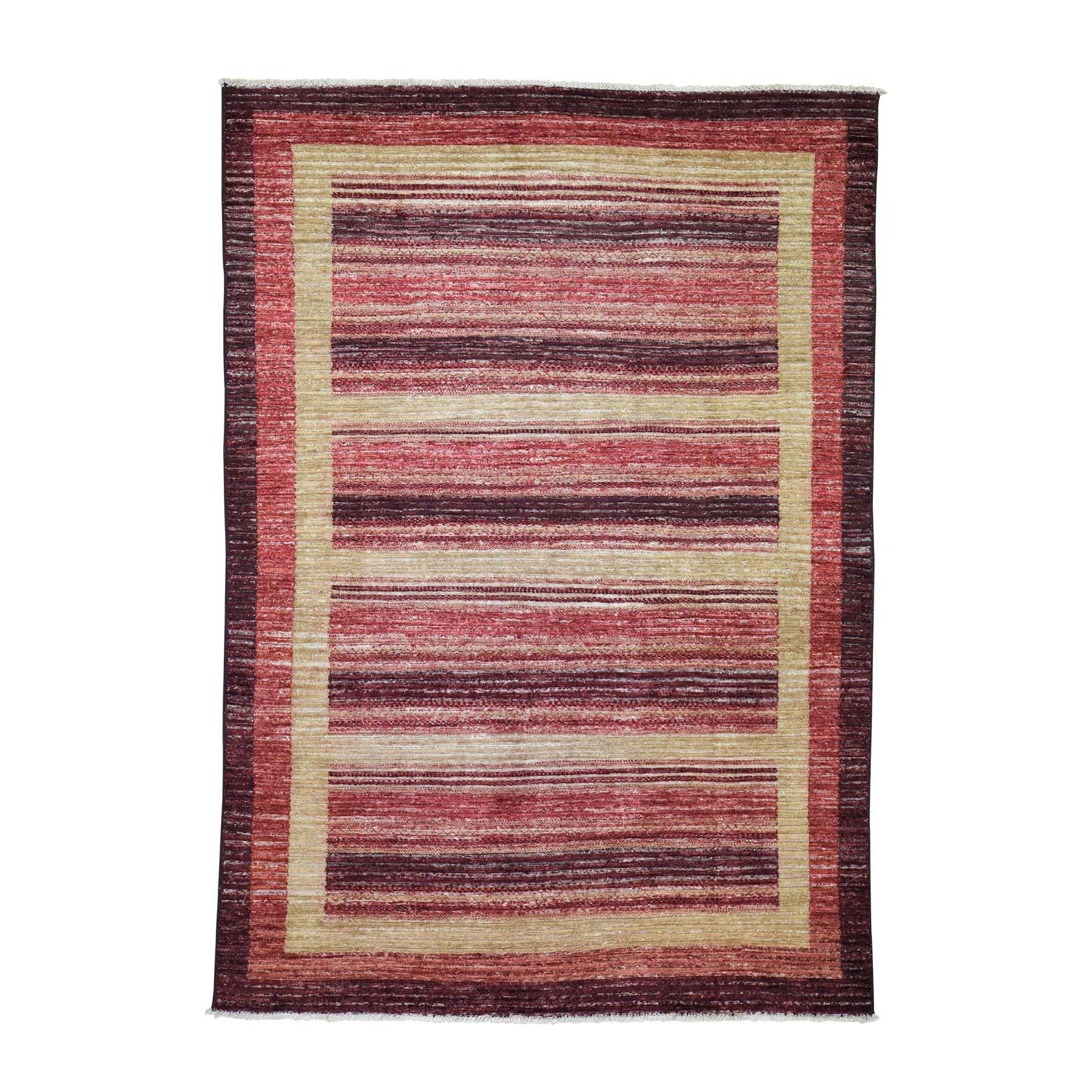 "5'4""X7'8"" On Clearance Pure Wool Peshawar Gabbeh Hand Knotted Oriental Rug moade0e6"