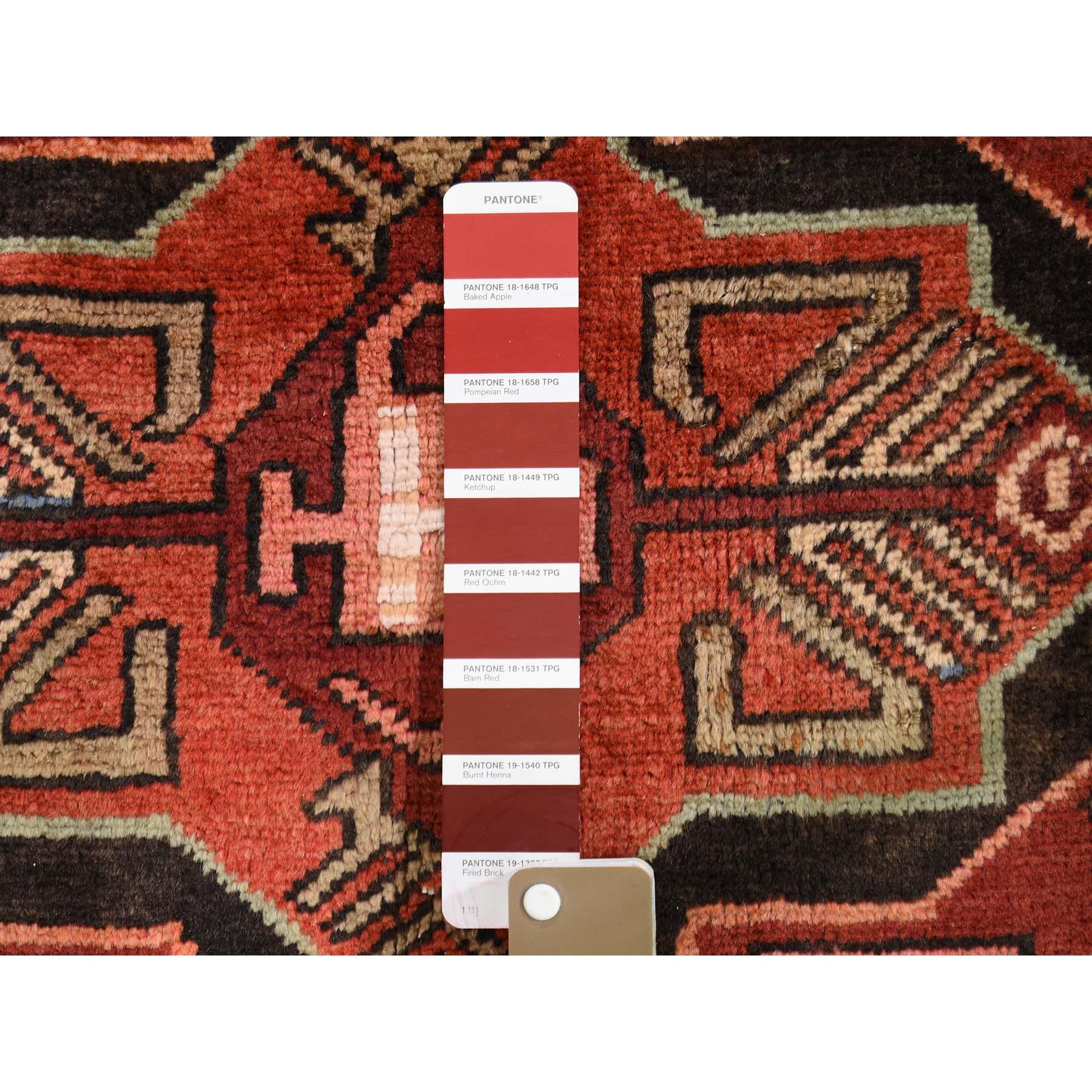 3-10 x12-10  Vintage Persian Hamadan Wool Wide Gallery Runner Hand-Knotted Oriental Rug