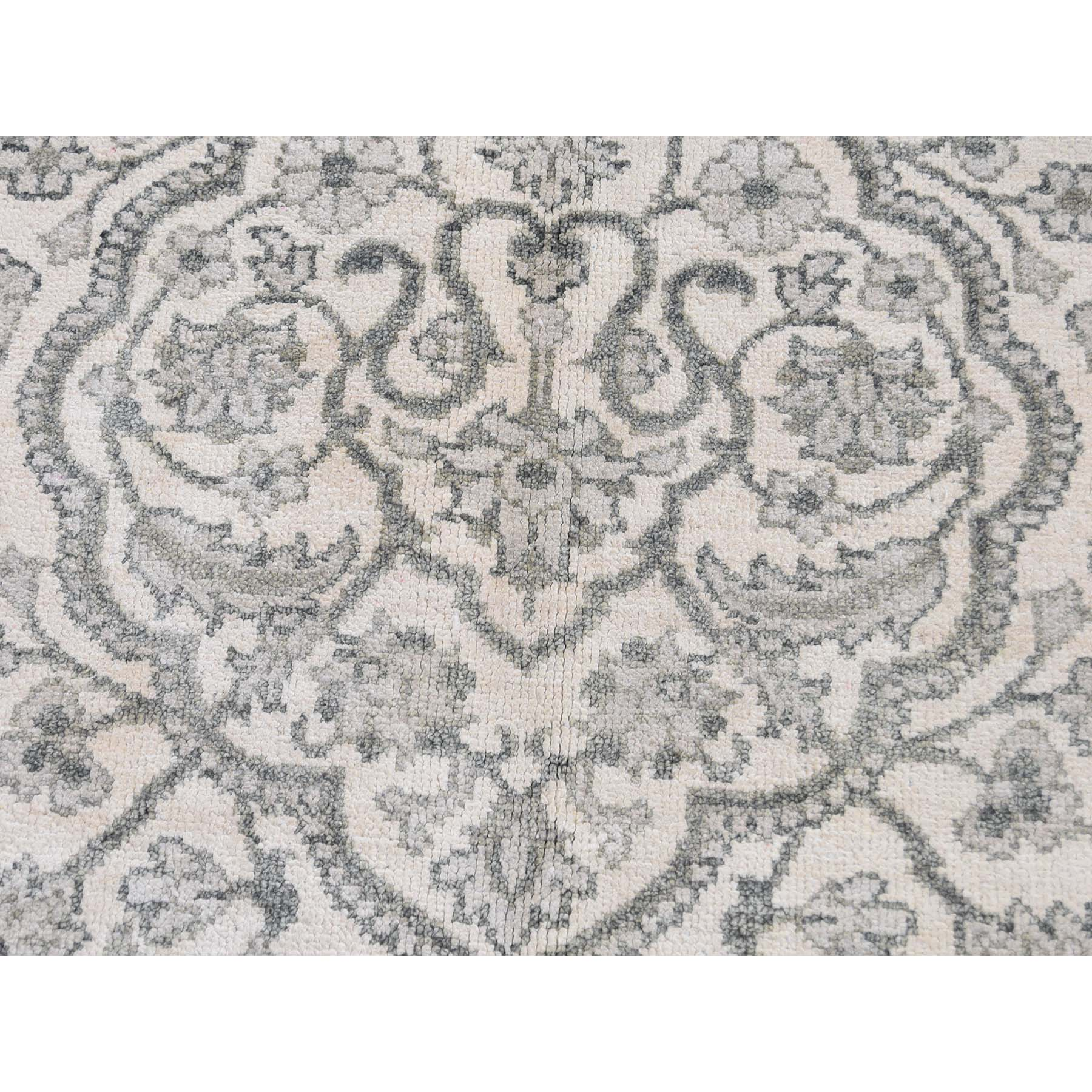 8-10 x12- Pure silk Tone on Tone Hand Knotted Oriental Rug