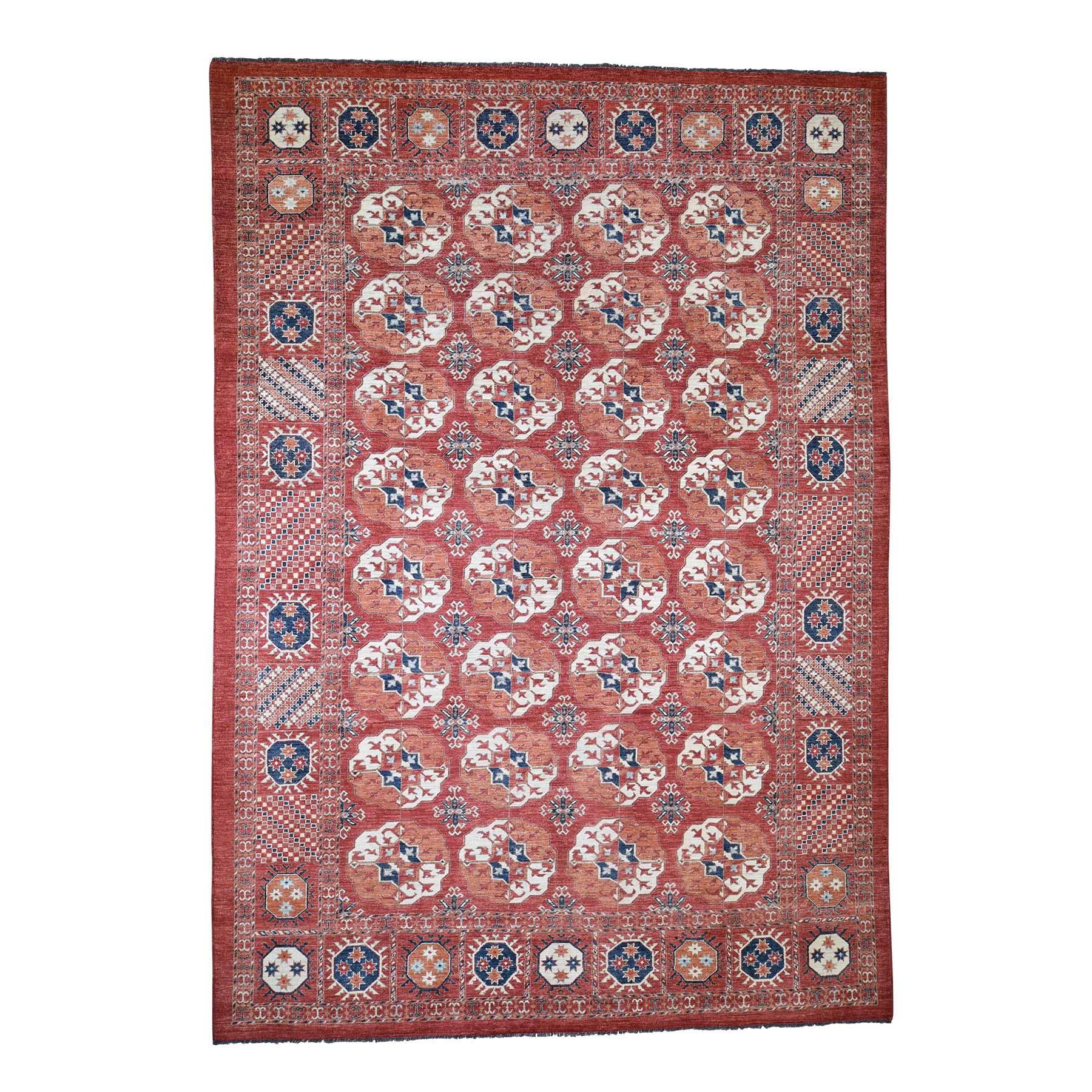 """9'10""""X14'1"""" Afghan Ersari Tekke Bokhara Pure Wool Hand Knotted Oriental Rug moadeab9"""