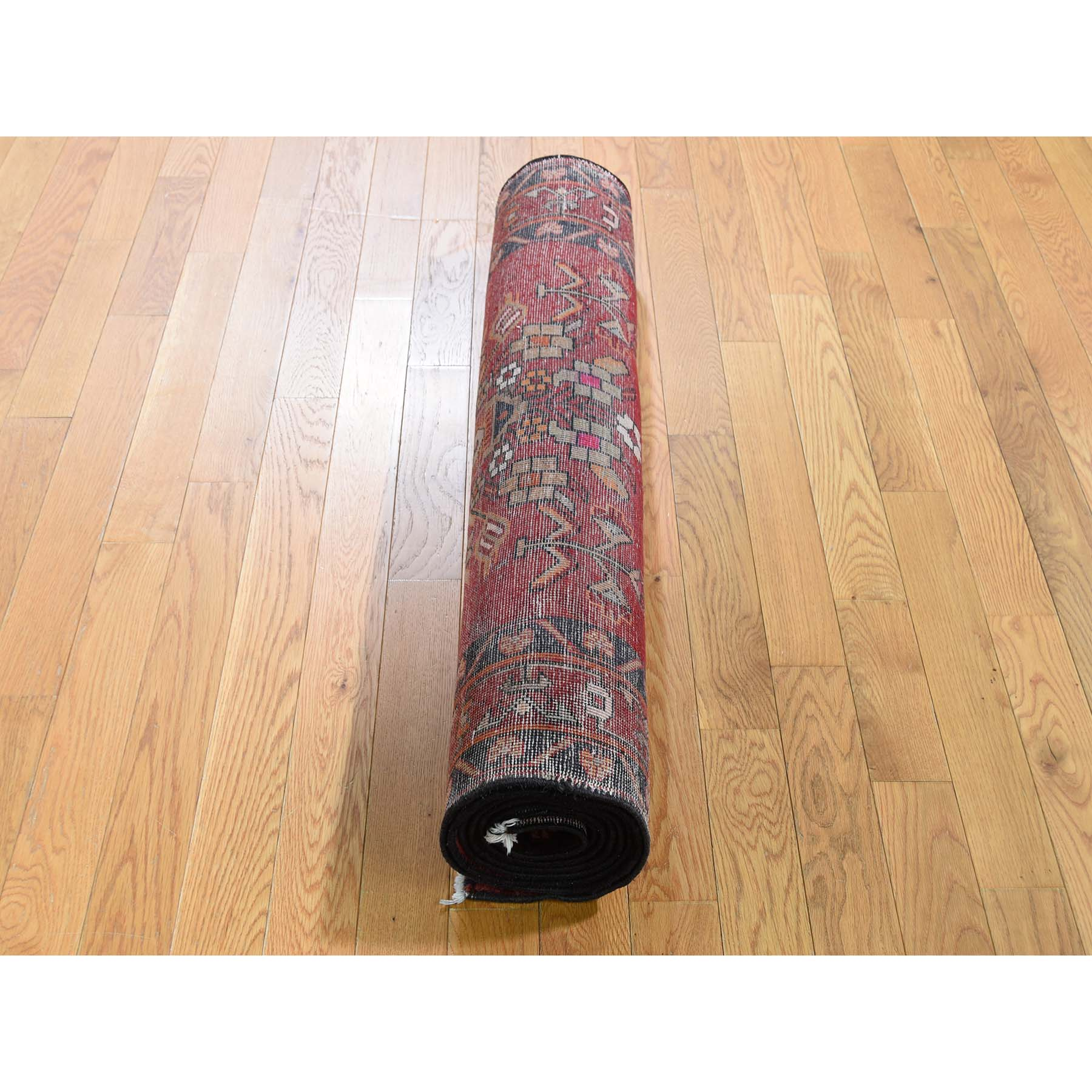 3-7 x9-9  North West Persian Vase Design Pure Wool Wide Runner Hand-Knotted Oriental Rug