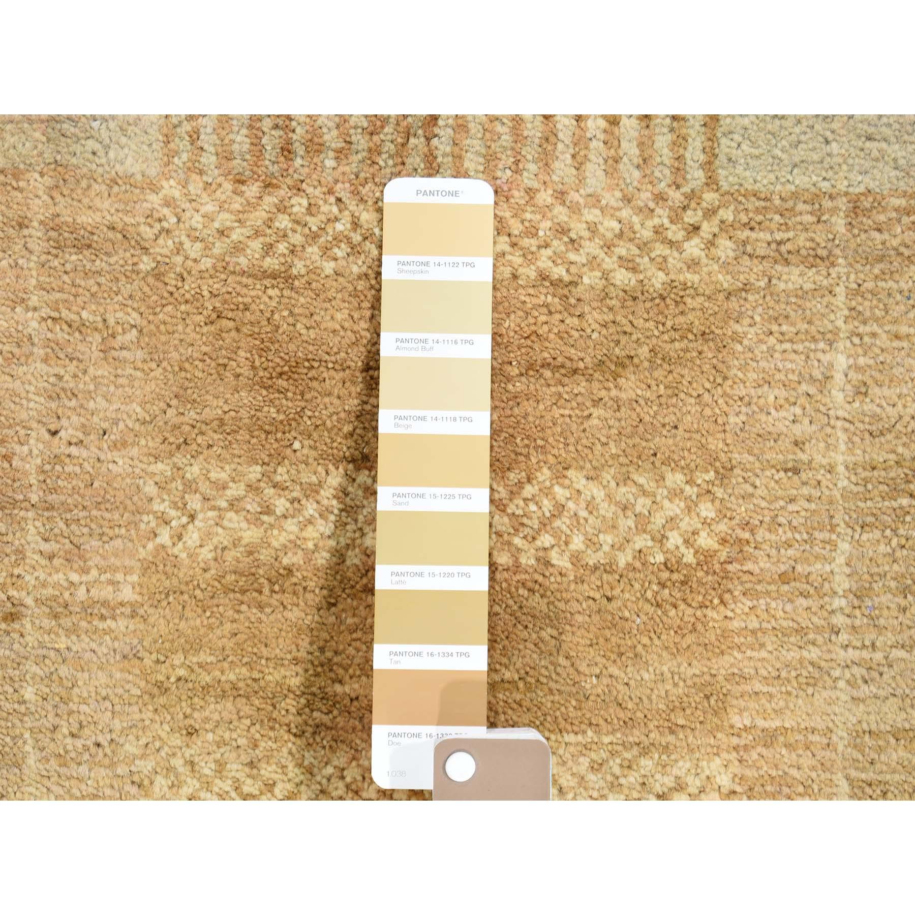 4-5 x7- Geometric Design Gabbeh Pure Wool Oriental Hand Knotted Oriental Rug