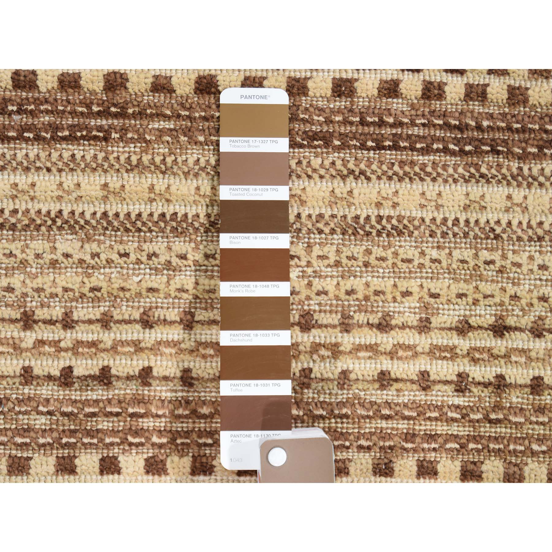 5-4 x8-1  Striped Modern Brown Gabbeh Hand Knotted Pure Wool Oriental Rug