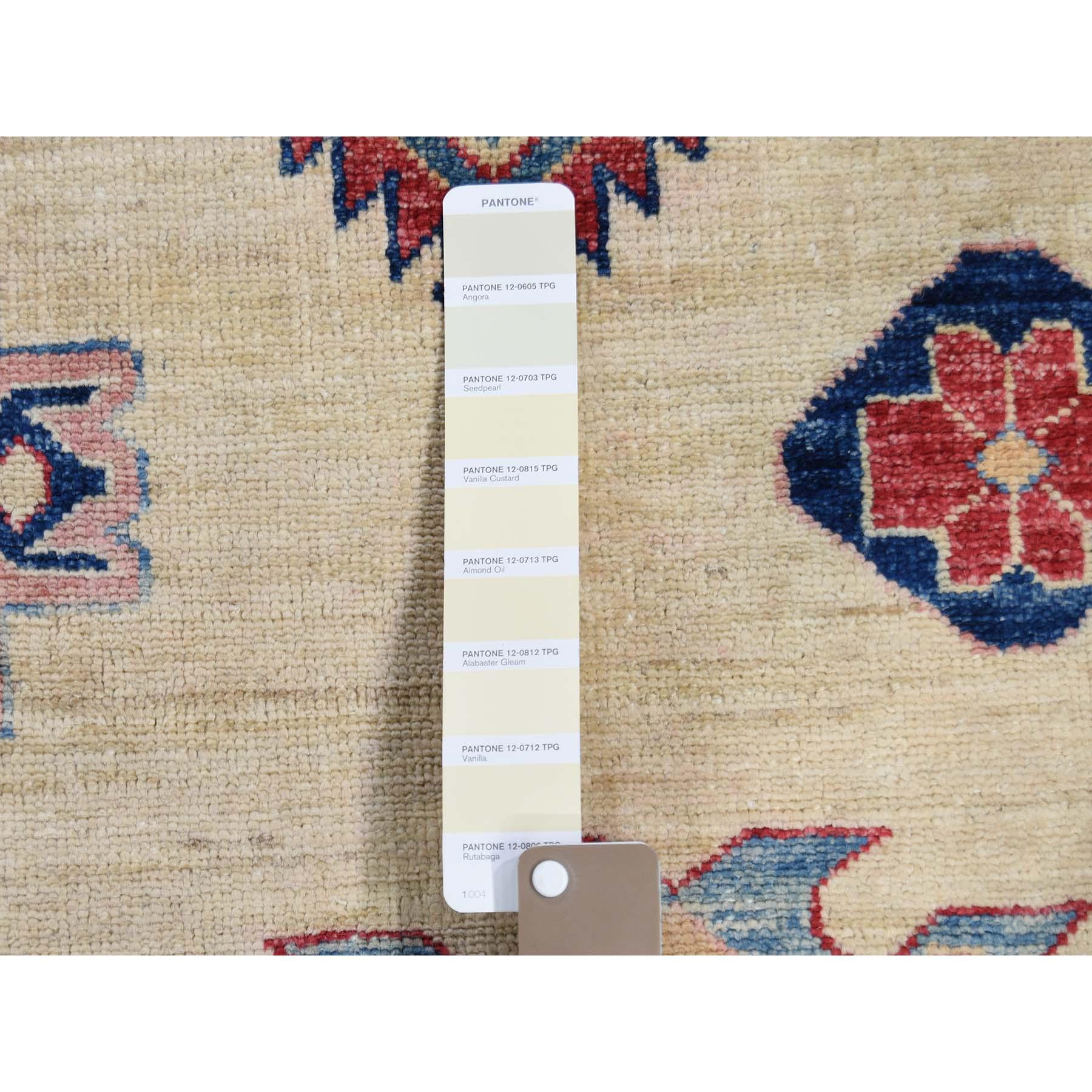11-8 x16-6  Oversize Ivory Super Kazak Pure Wool Hand Knotted Oriental Rug