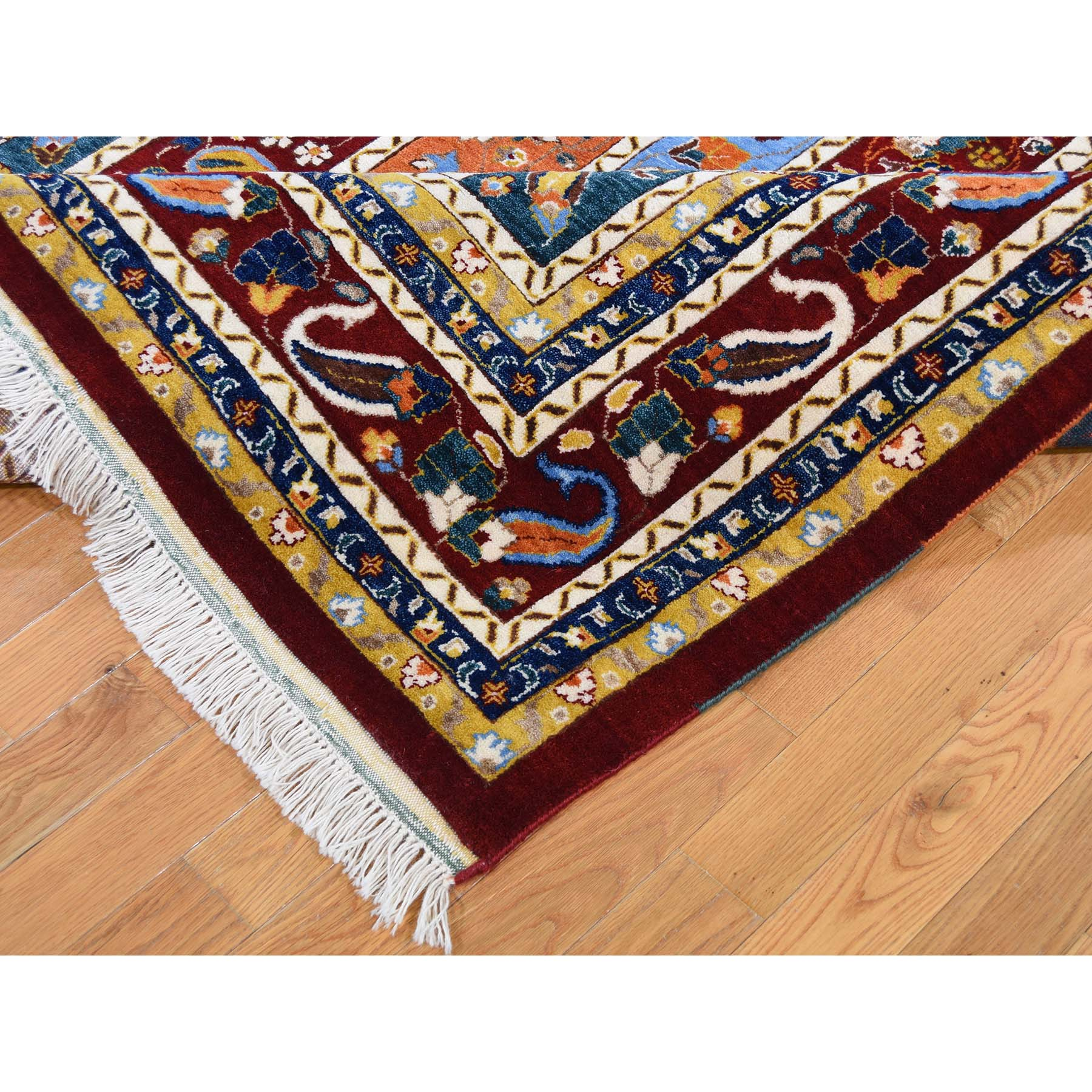 8-2 x9-10  On Clearance Kashkuli Shawl Design With Paisley Multicolored Hand Knotted Oriental Rug
