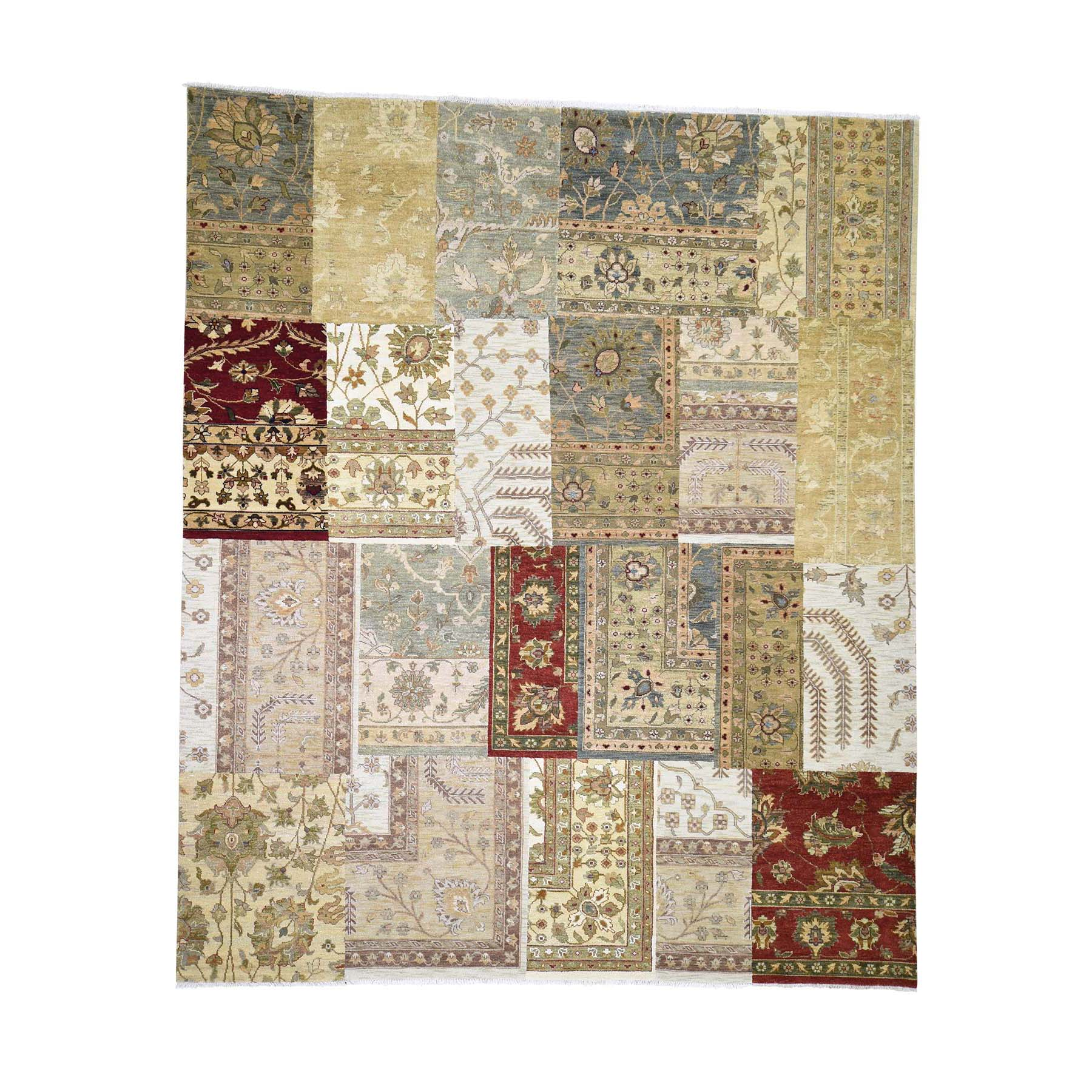 "8'3""X9'9"" On Clearance Patchwork With Peshawar Design Hand Knotted Oriental Rug moadecb6"