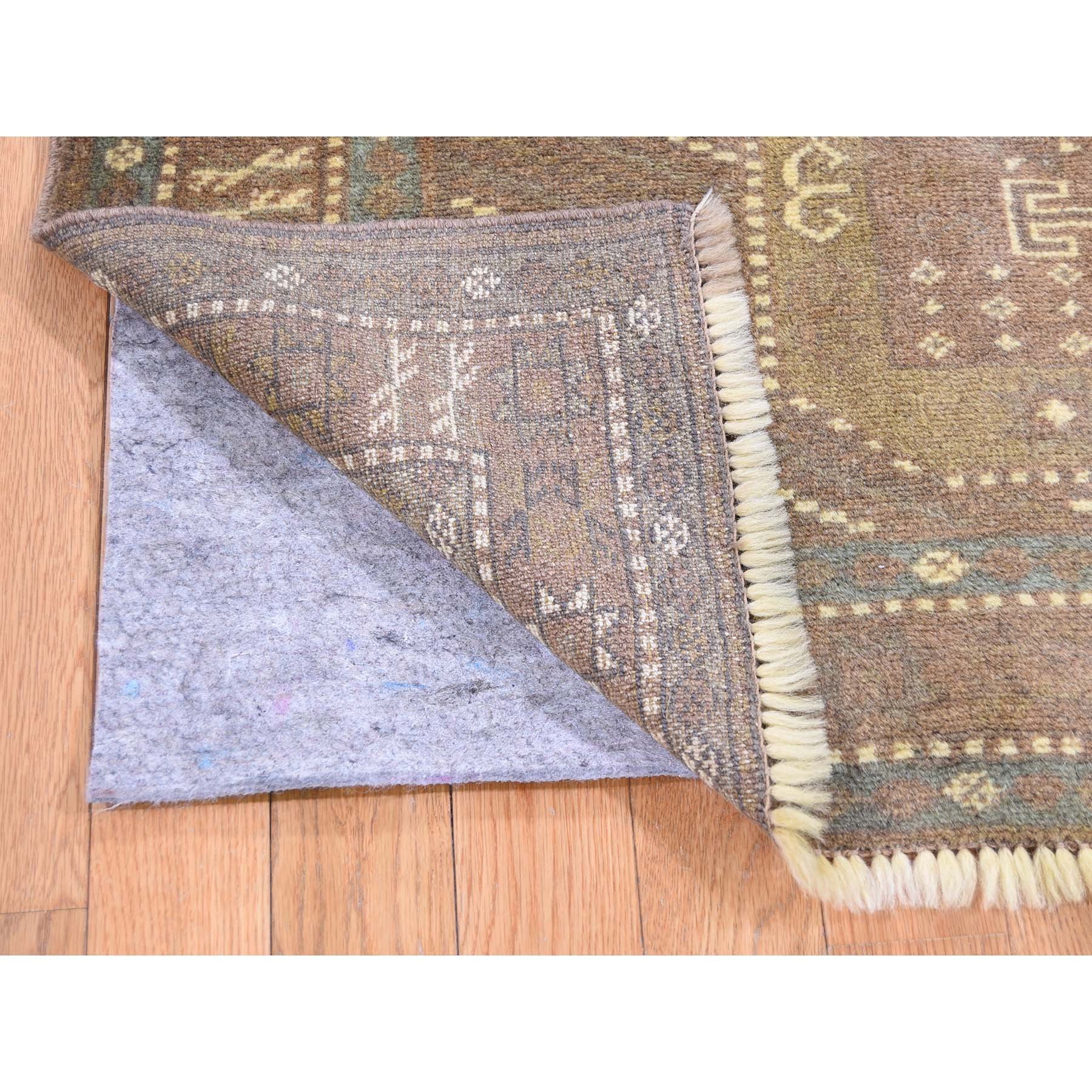 4-x5-4  Brown Vintage Persian Baluch Pure Wool hand-Knotted Oriental Rug