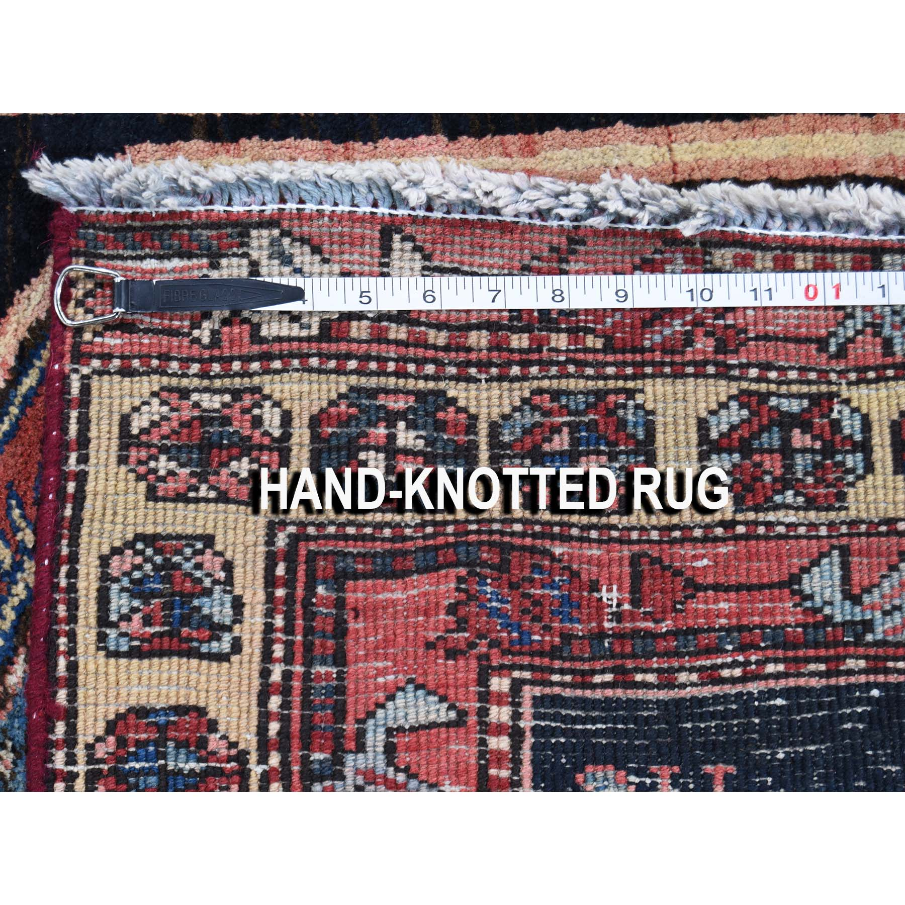 4-x9-8  Vintage North West Persian Pure Wool Wide Runner Hand-Knotted Oriental rug45369