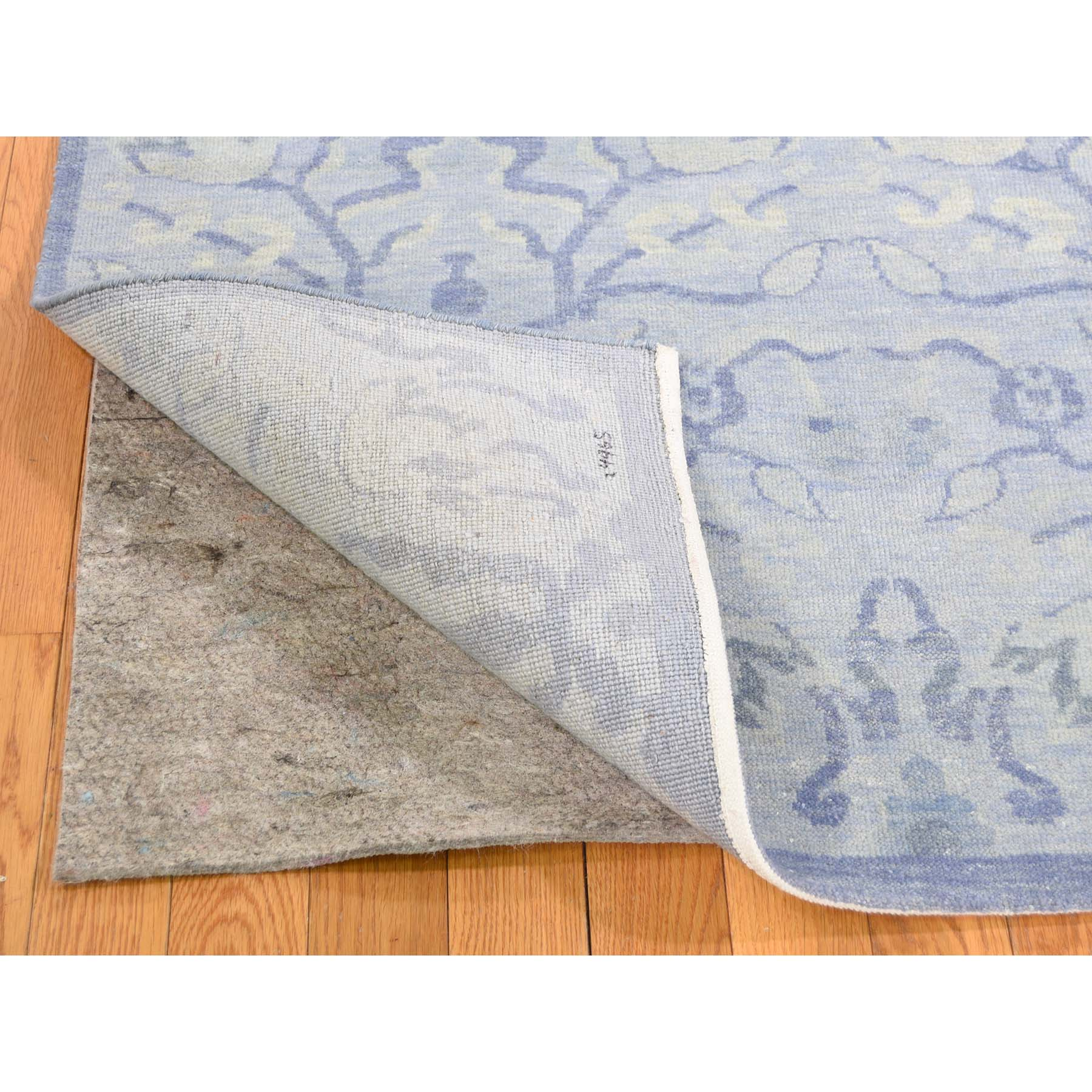 8-x9-10  Modern Light Blue Tone on Tone Pure Wool Hand-Knotted Oriental Rug