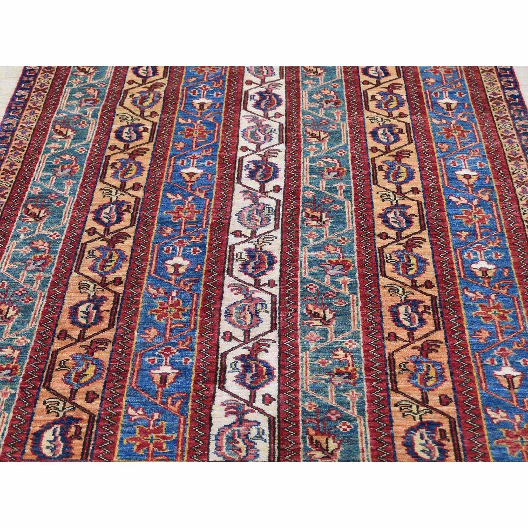"4'9""x6'8"" Multicolored Super Kazak Shawl Design Pure Wool Hand-Knotted Oriental Rug"