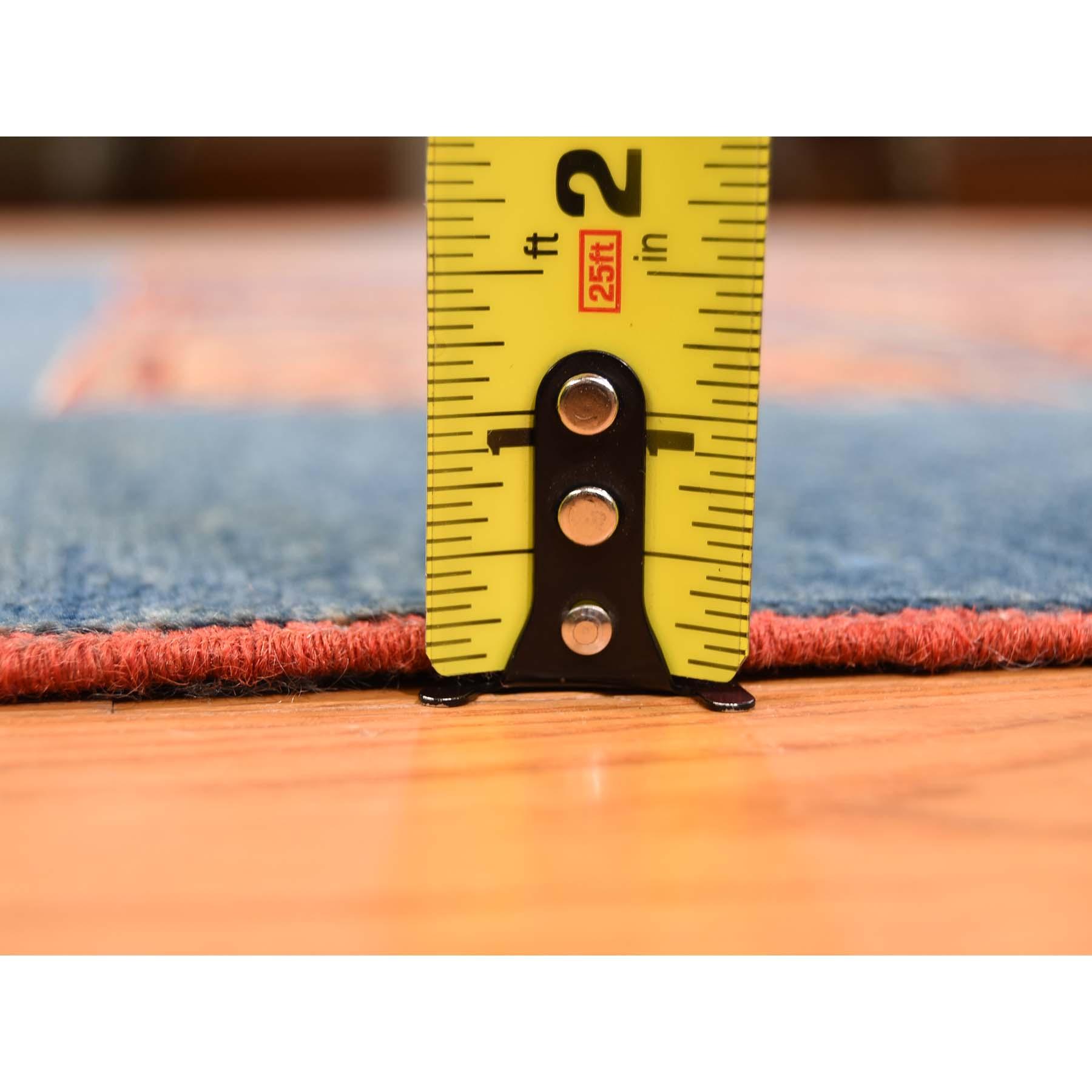 5-x6-6  Denim Blue Super Kazak Garden Design Pure Wool Hand-Knotted Oriental Rug