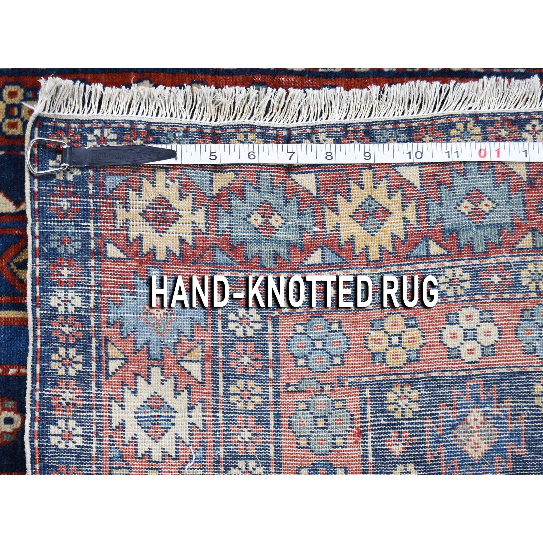 3-6 x4-6  Navy Antique Persian Ardabil Clean Even Wear Pure Wool Hand-Knotted Oriental Rug
