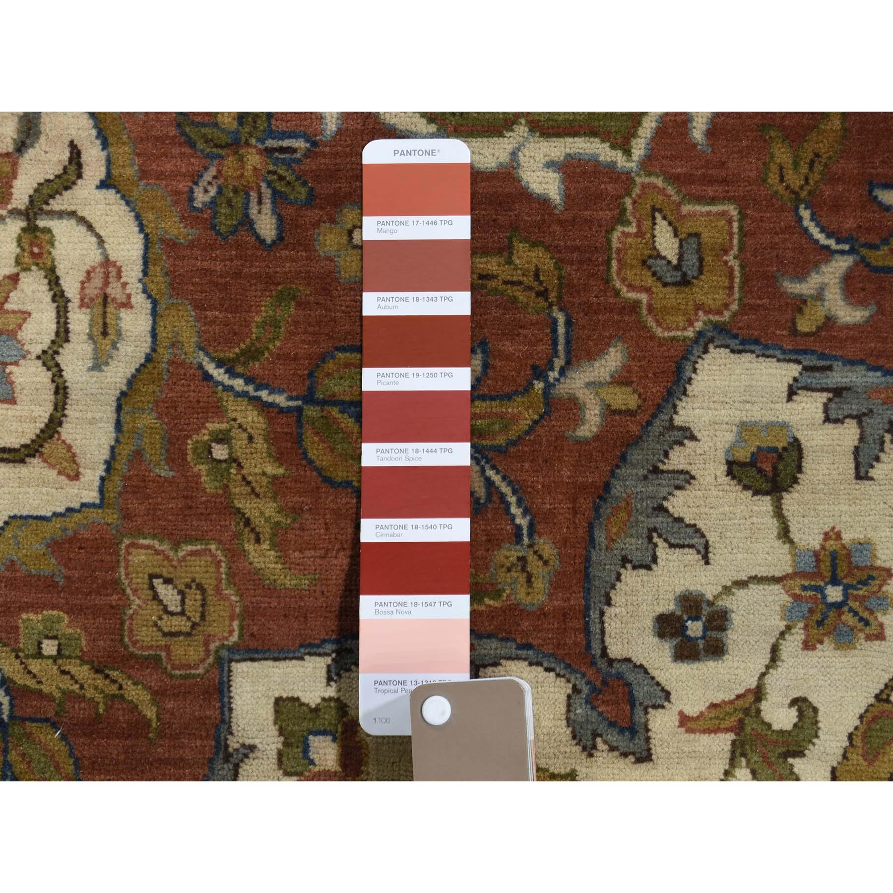 12-x16- Red Antiqued 300 KPSI Fine Tabriz Oversized Sheikh Safi Design Oriental Rug