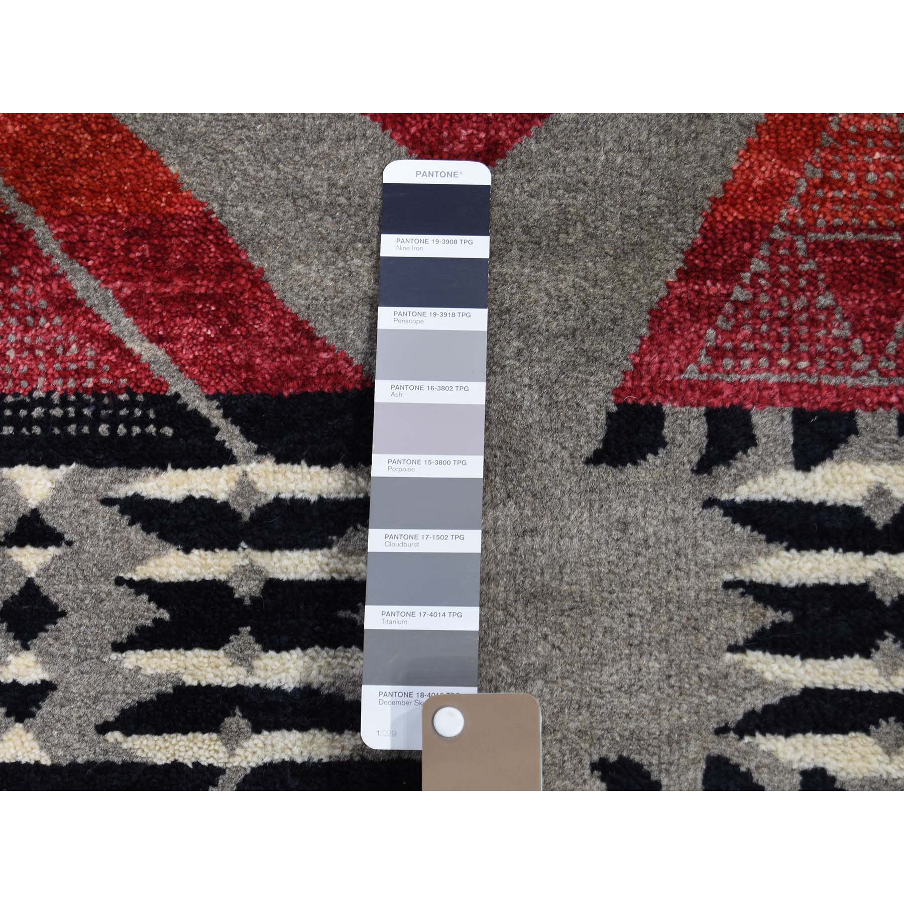 8-1 x9-8  Gray Hand-Knotted Southwestern Design Pure Wool Oriental Rug