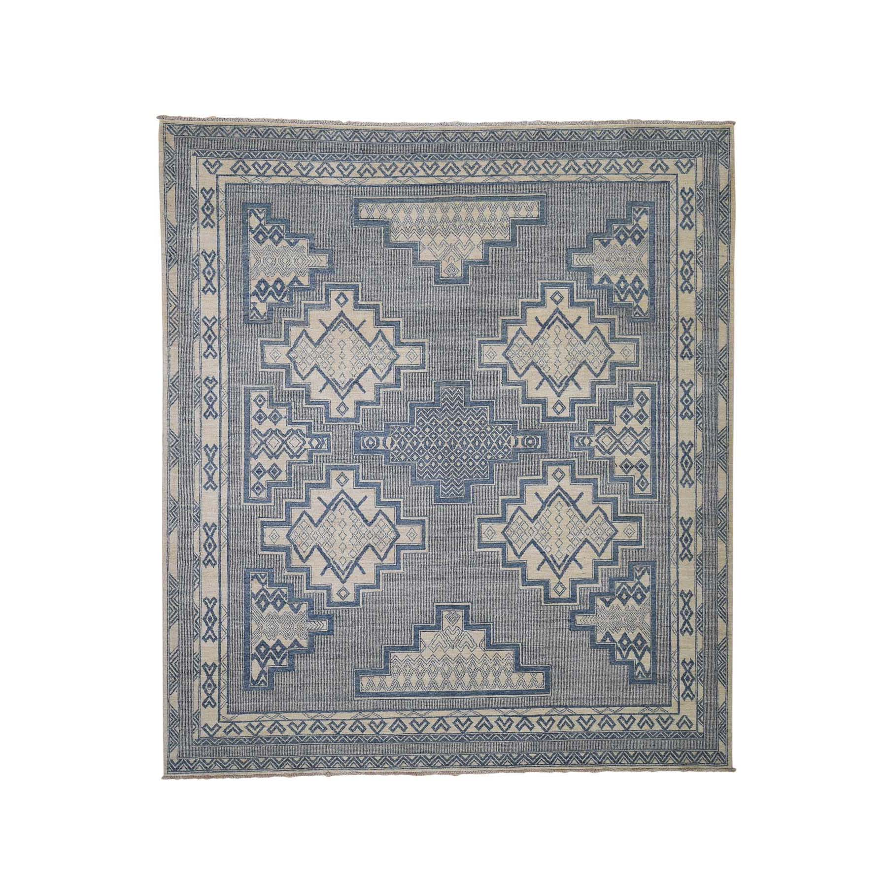 "8'2""X10'3"" Hand-Knotted Pure Wool Peshawar With Southwestern Motifs Oriental Rug moadee99"