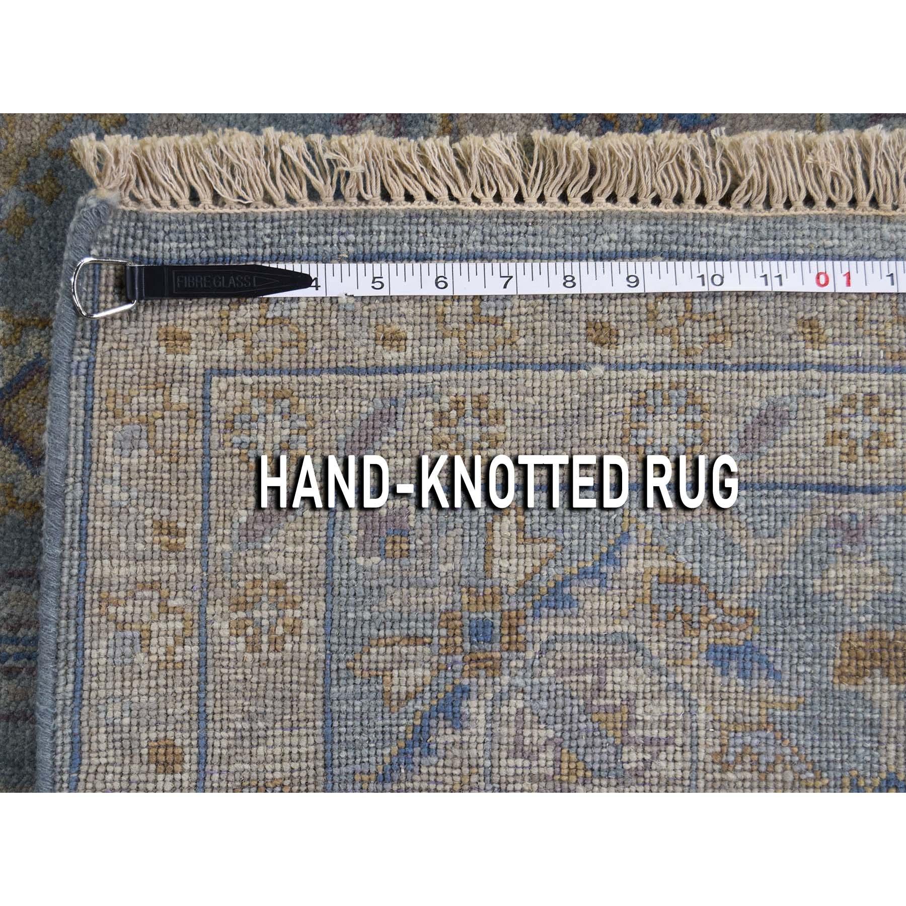 8-1 x10- Blue Karajeh Design Pure Wool Hand-Knotted Oriental Rug
