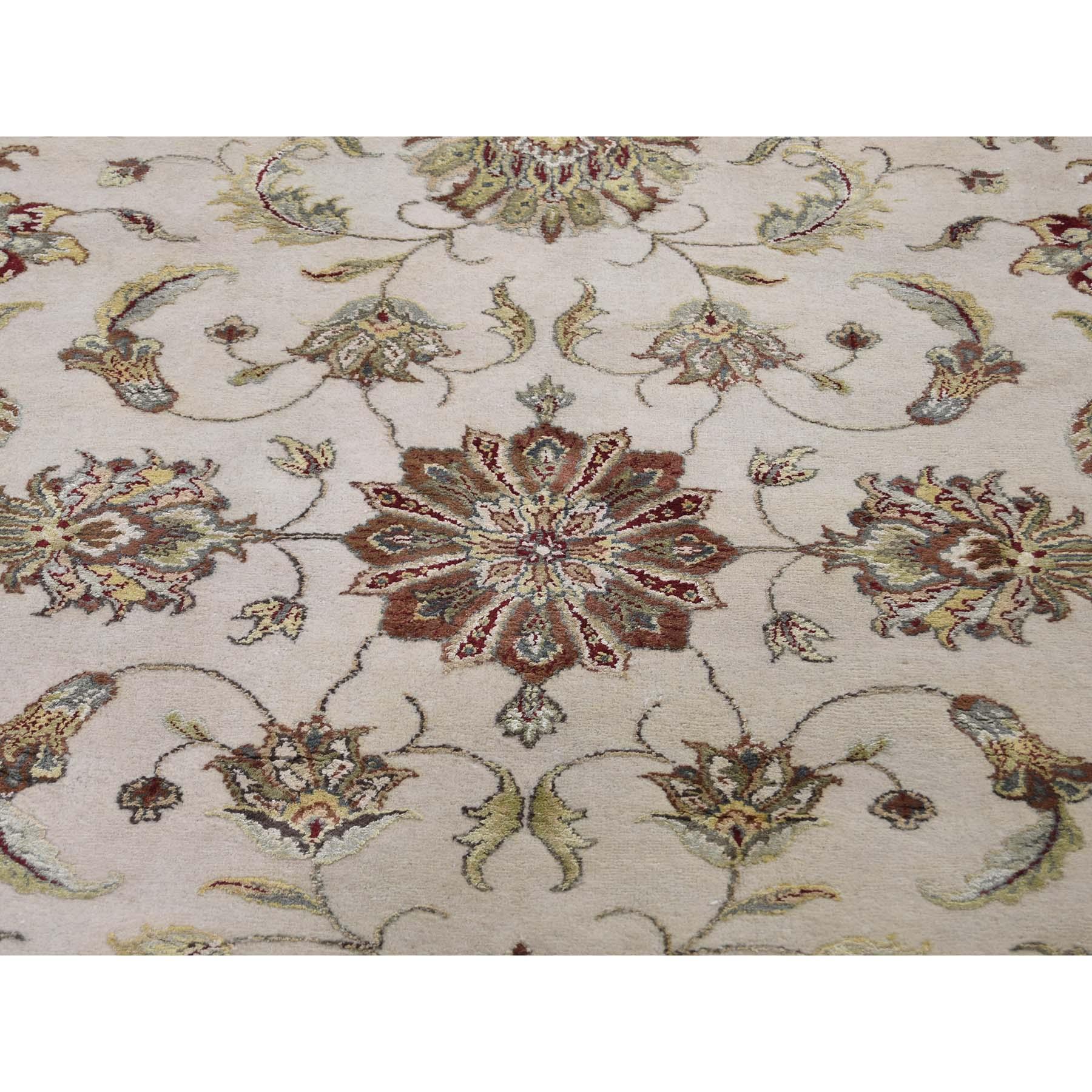 12-x15-3  Oversized Hand-Knotted Half Wool & Half Silk Rajasthan Oriental Rug