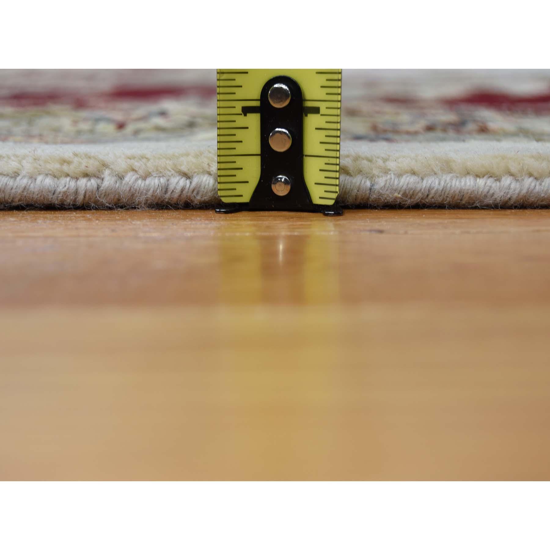 "12'x18'2"" Oversized Hand-Knotted Half Wool & Half Silk Rajasthan Oriental Rug"