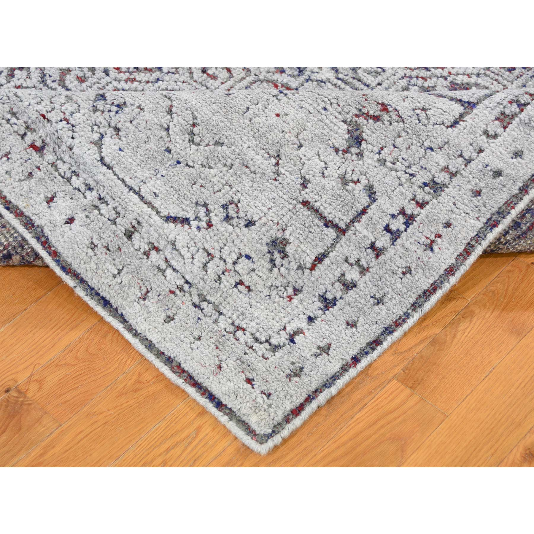 8-x10- Hi-Low Pile Oxidized Wool Khotan Design Hand-Knotted Oriental Rug