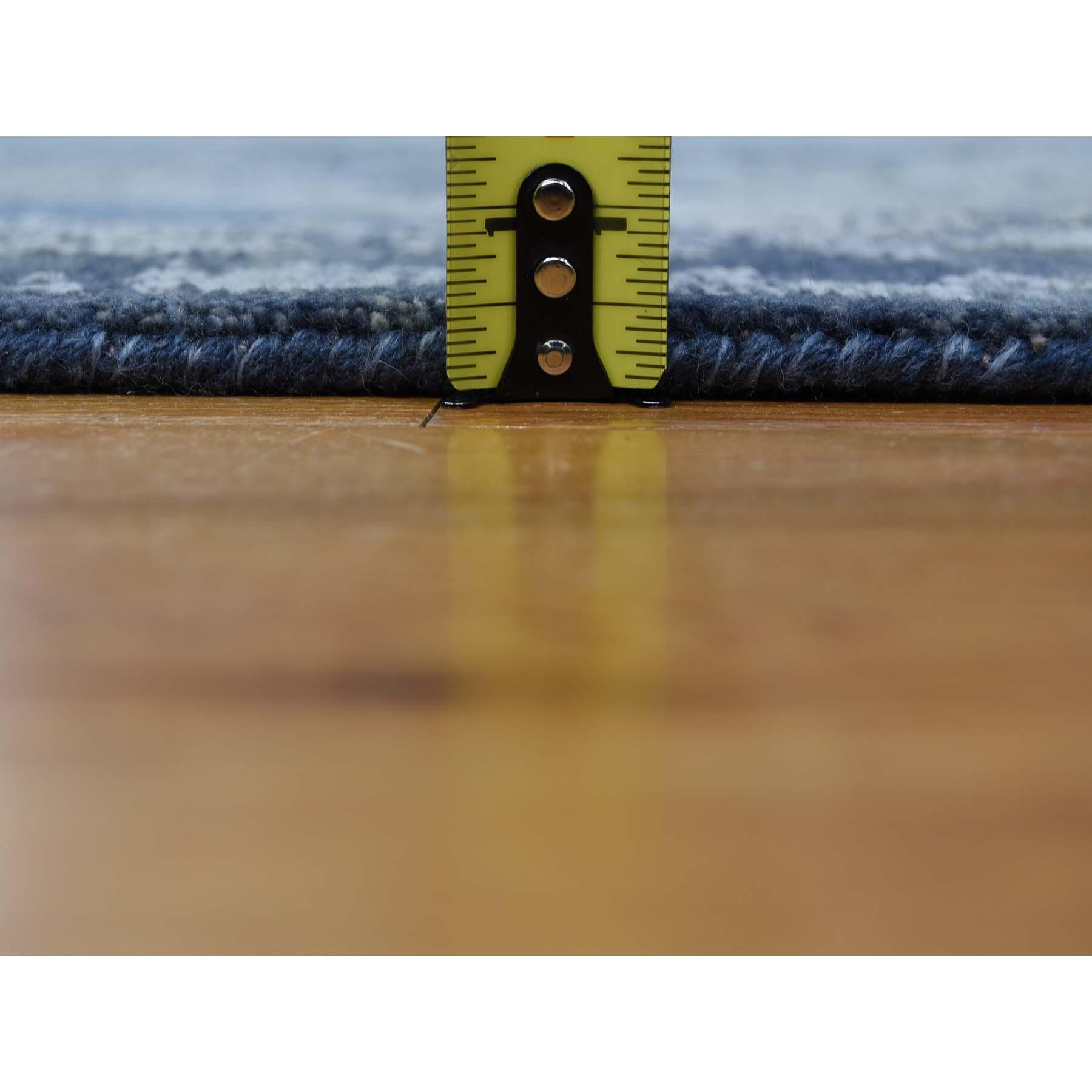 10'x14' Jewellery Design Tone On Tone Half Wool And Half Silk Hand-Knotted Oriental Rug