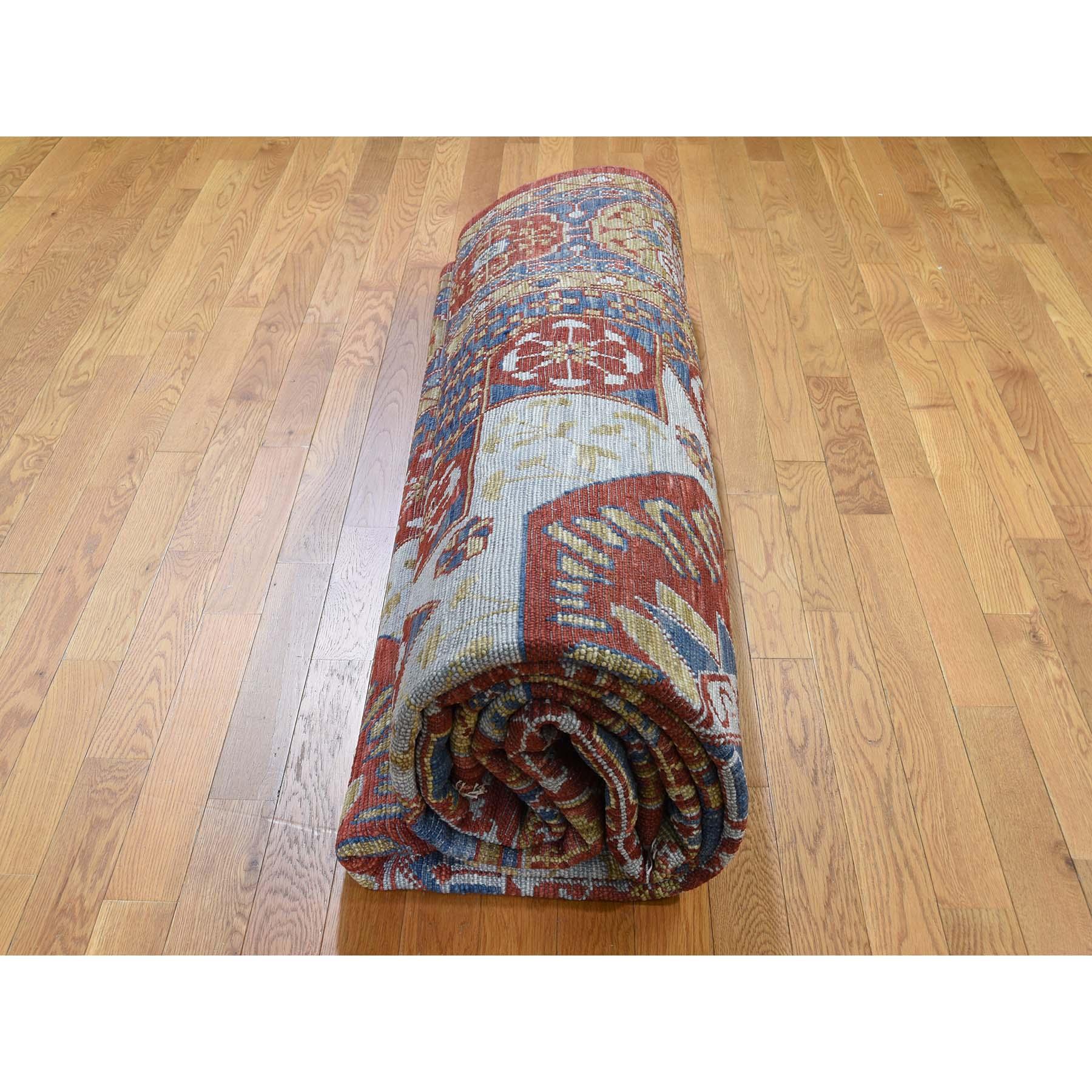 10-1 x13-10  Red Mamluk Design Veg Dyes Hand Spun New Zealand Wool Oversize Oriental Rug