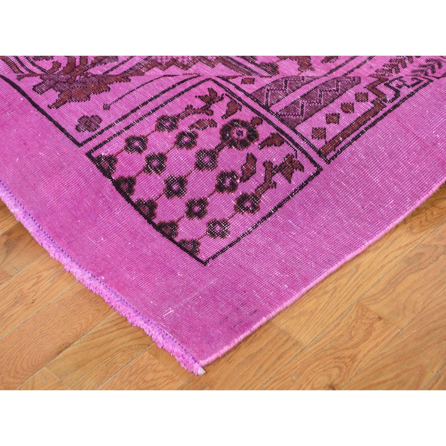 7-8 x11- Overdyed Pink Persian Bakhtiari Hand Knotted Vintage Oriental Rug