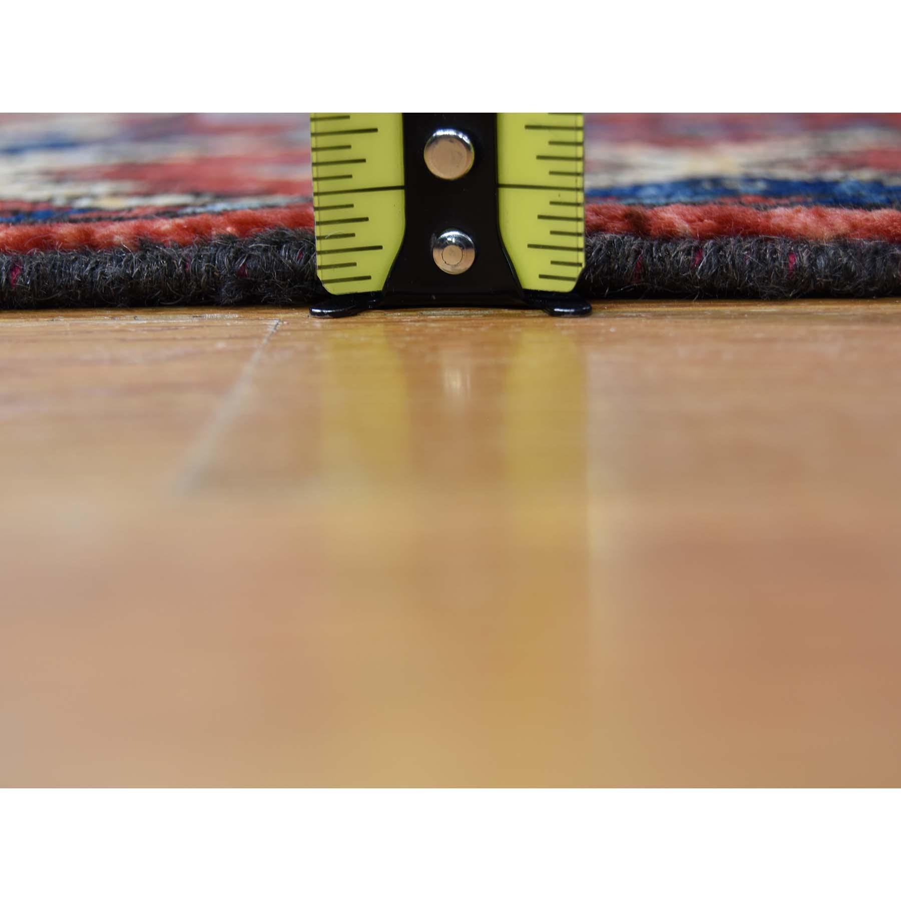 "2'10""x9'9"" Afghan Ersari Elephant Feet Design Hand-Knotted Runner Oriental Rug"