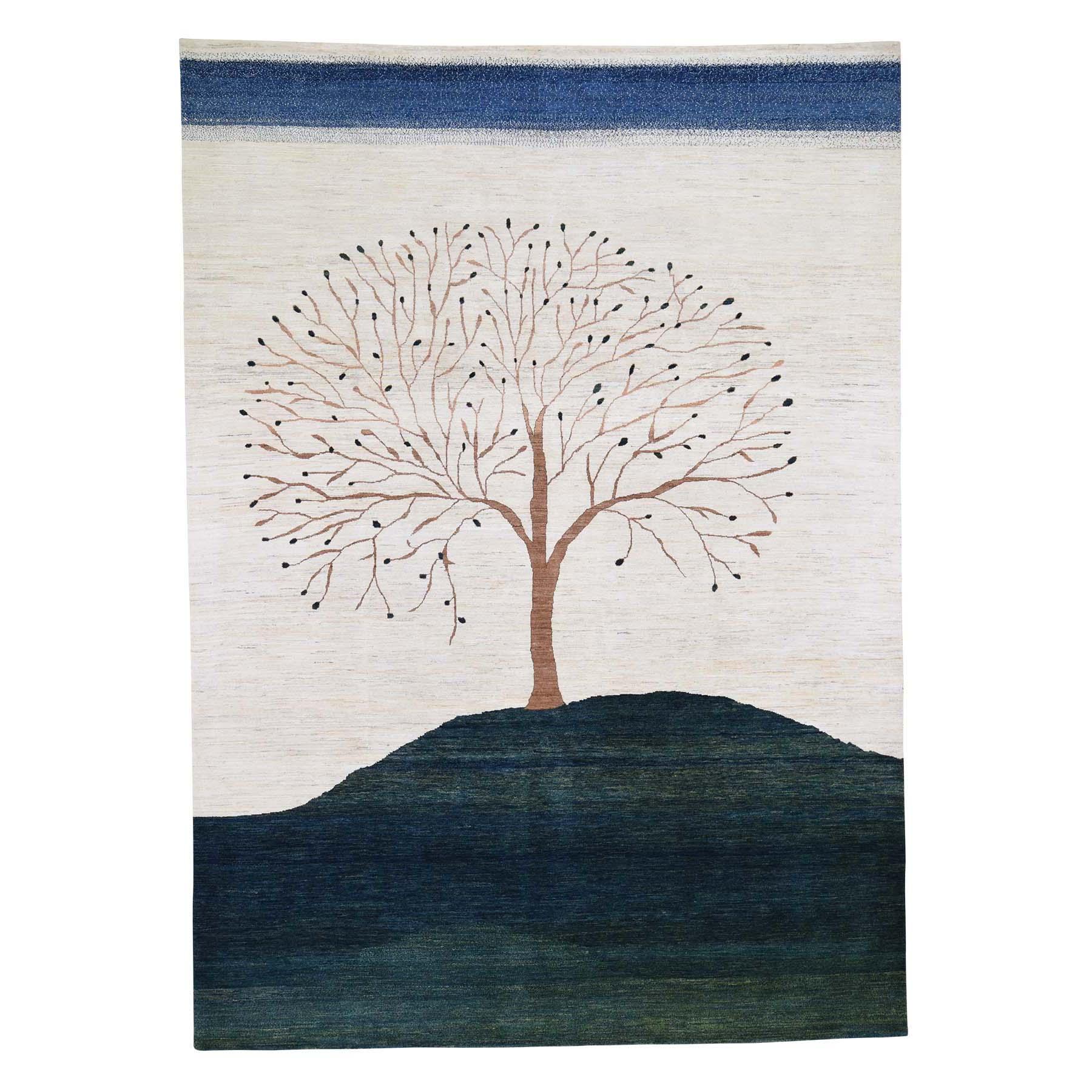 "8'7""X12' Persian Wool Modern Gabbeh Folk Art Hand Knotted Oriental Rug moad60c8"