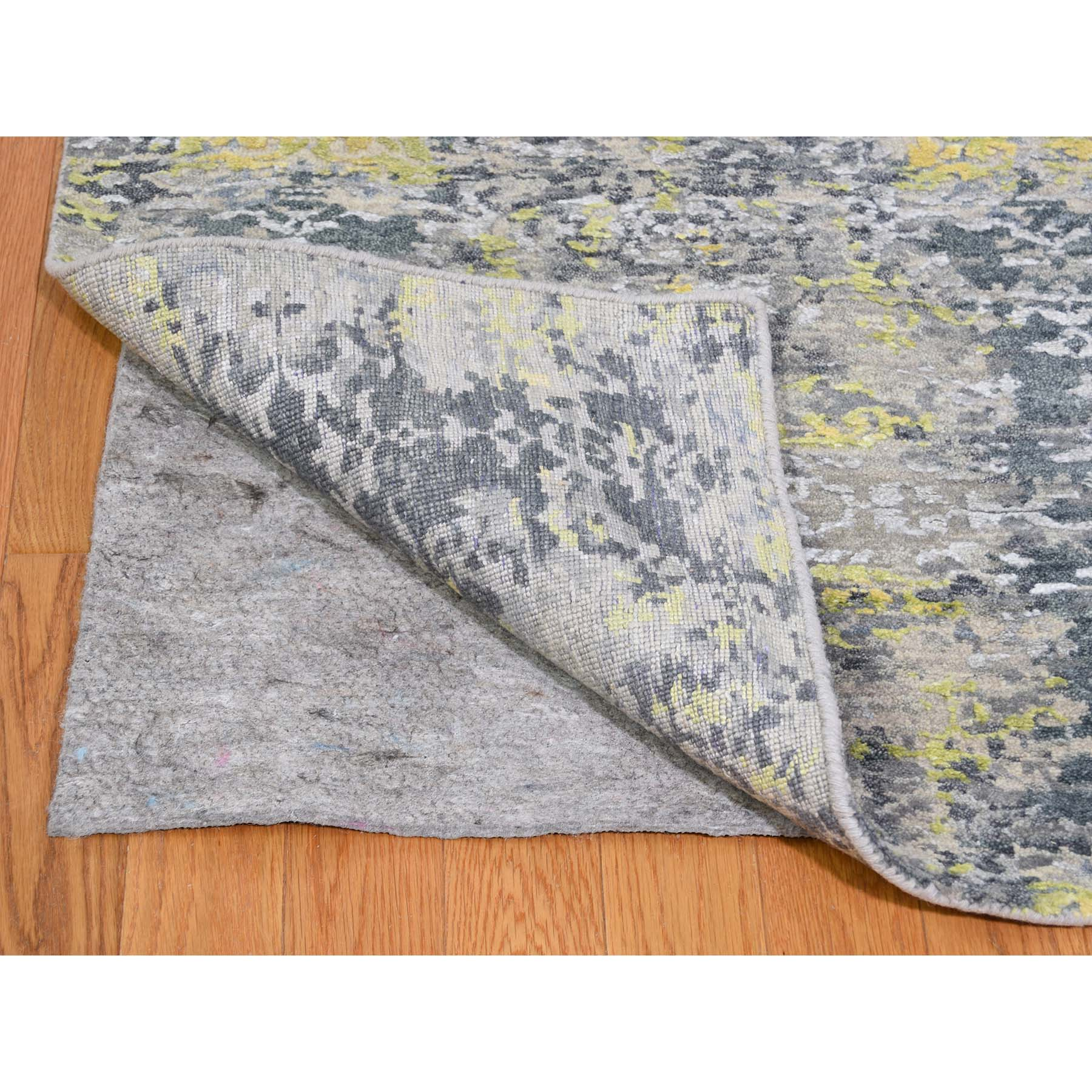 """8'10""""x11'9"""" Wool And Silk Abstract Design Hand-Knotted Oriental Rug"""