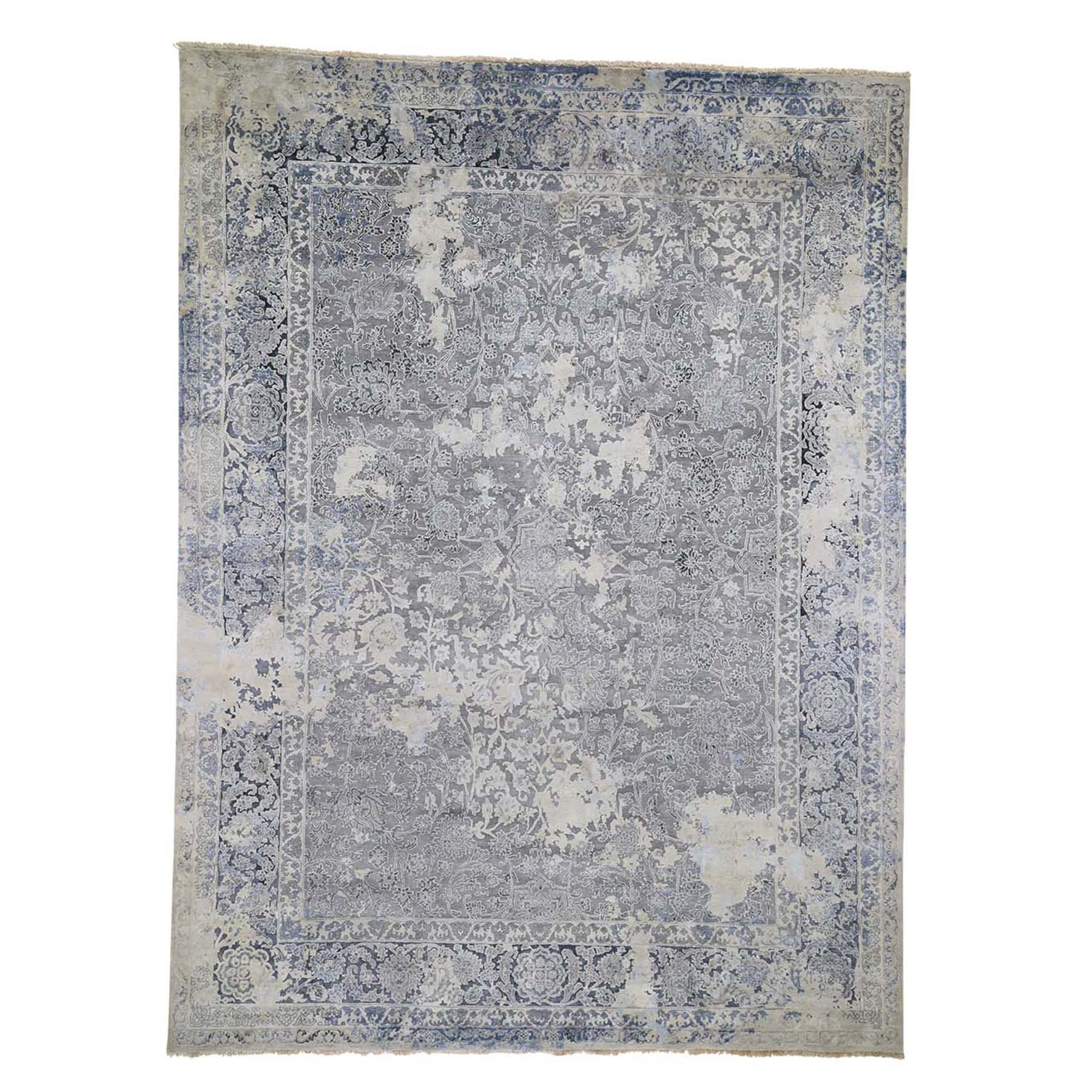 9'X12' Broken Persian Design With Pure Silk Hand-Knotted Oriental Rug moad6be6