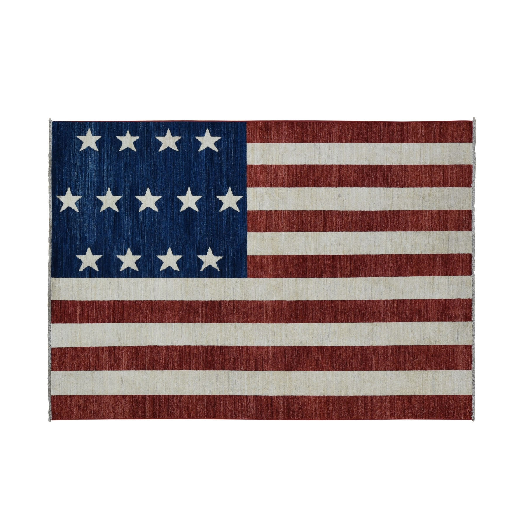 5'X7' Pure Wool Vintage Look American History Hand-Knotted Flag Design Wall Hanging Rug moad6b99