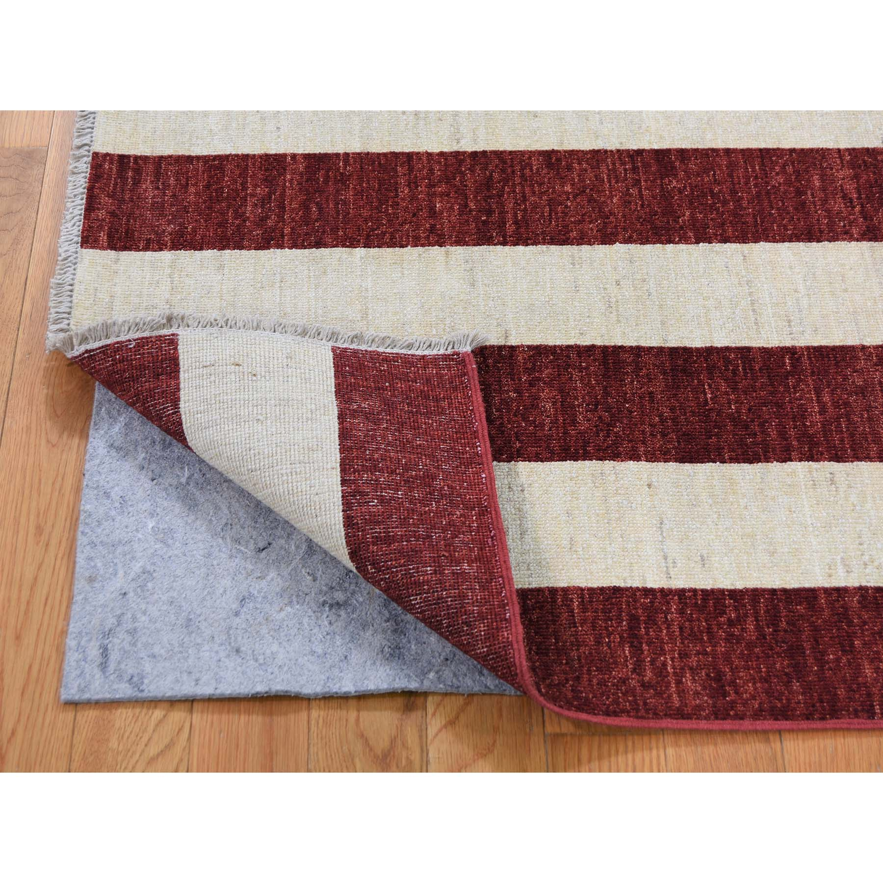 5 X7 Pure Wool Vintage Look American History Hand Knotted