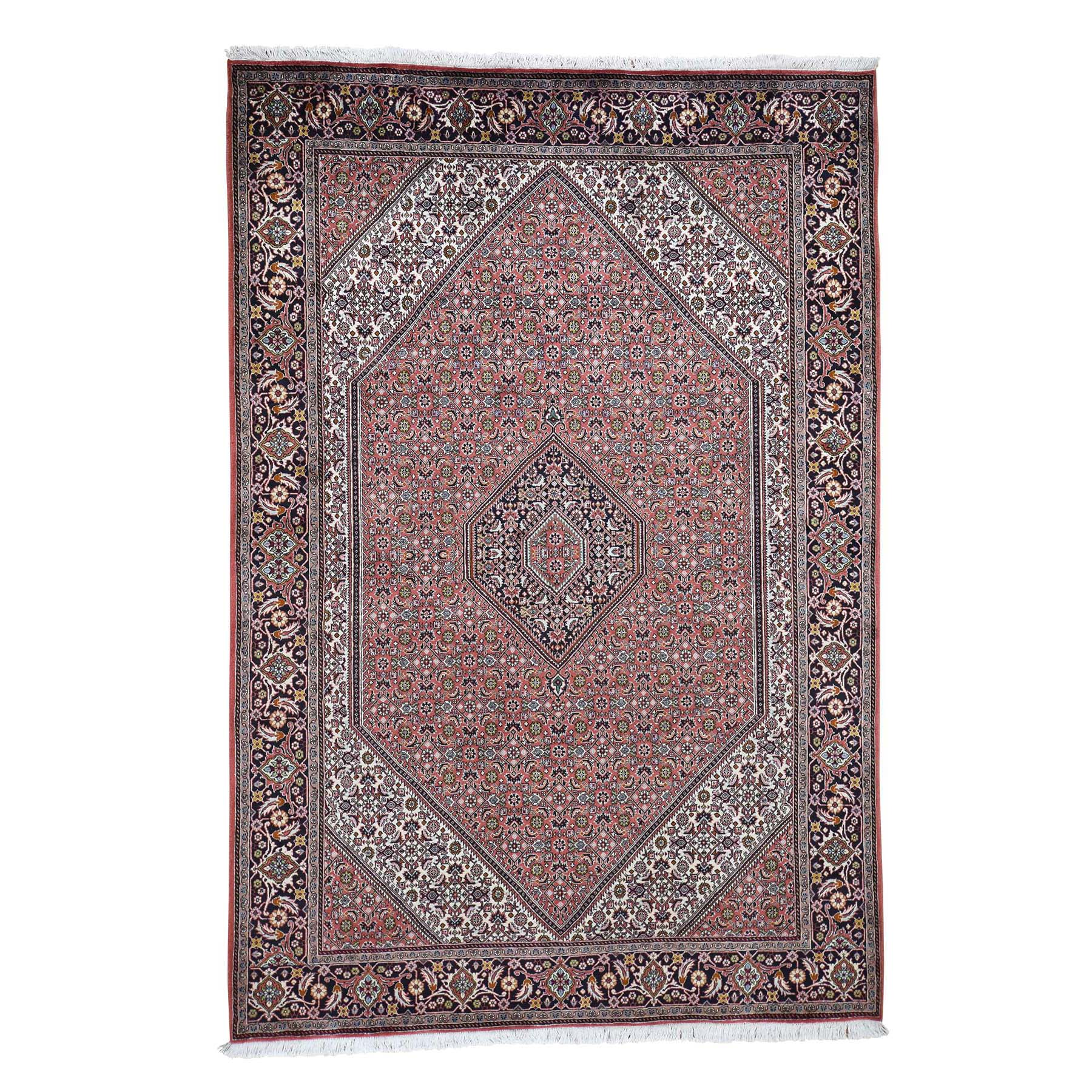 "6'7""X9'8"" Light Pink New Persian Bijar 300 Kpsi Hand-Knotted Oriental Rug moad6c86"