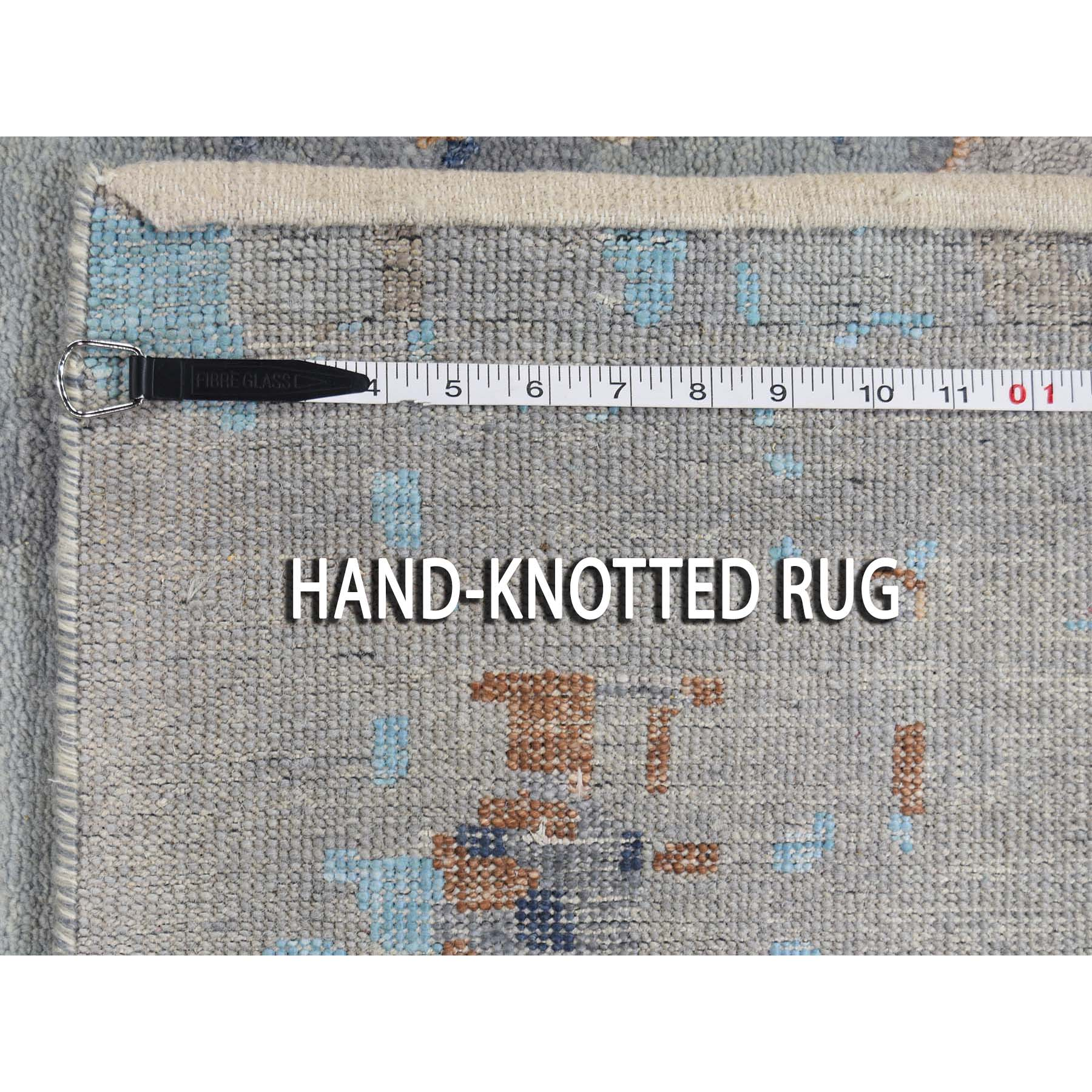 """10'1""""x14'2"""" Abstract Design Wool and Silk Hi-low Pile Hand Knotted Oriental Rug"""
