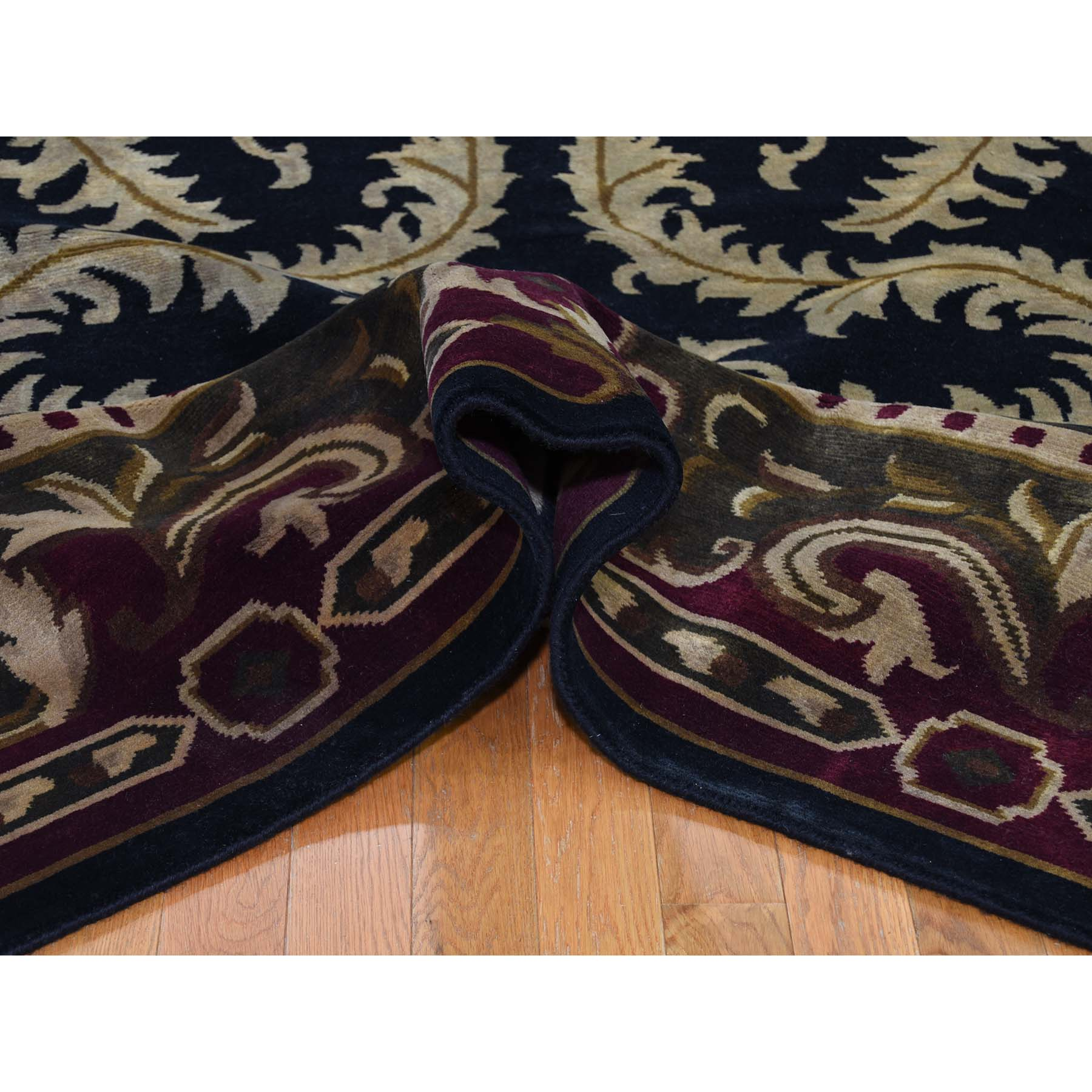 9-x12-4  On Clearance Modern Nepali with Neo Classic European Design Hand Knotted Rug