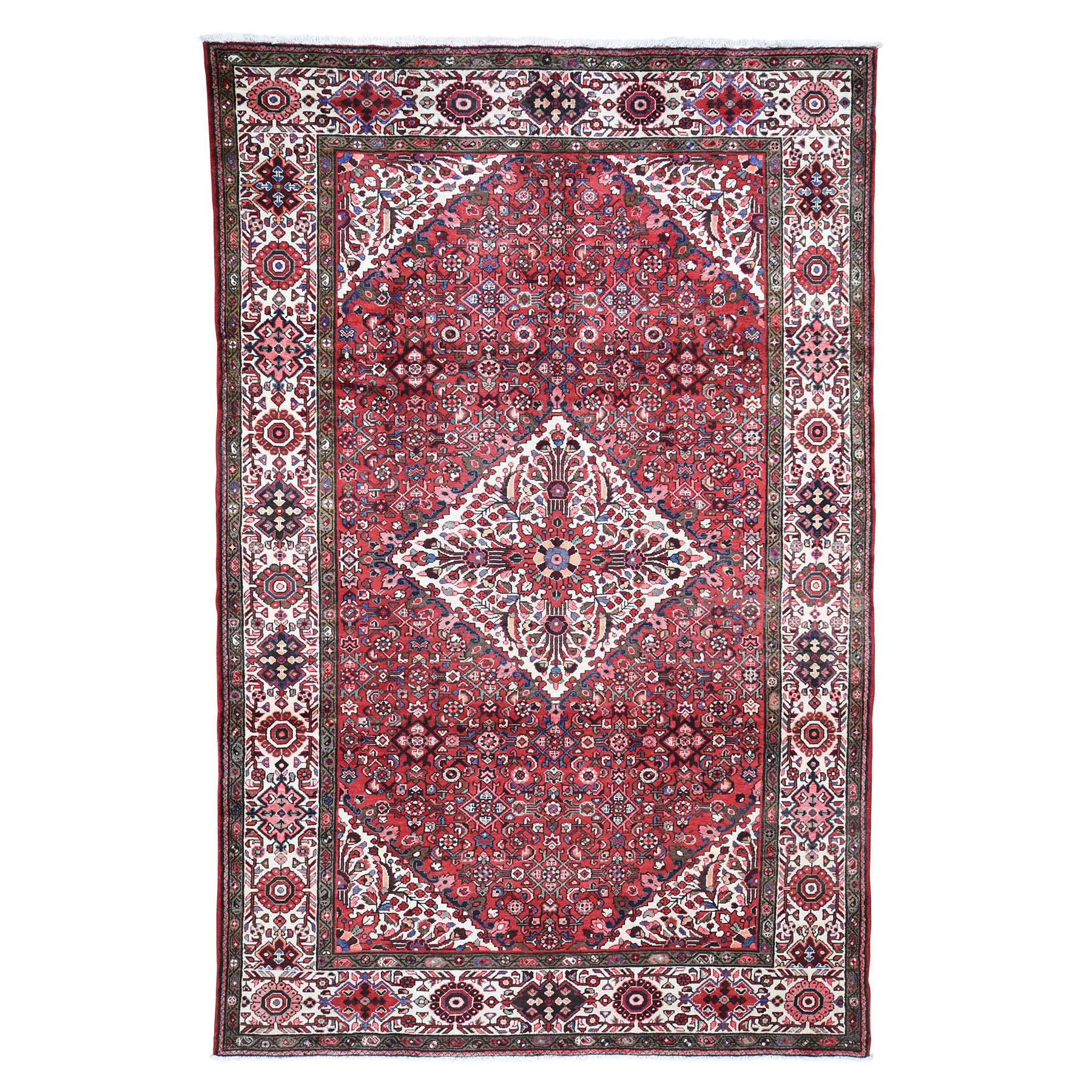 "7'2""X11' Red New Persian Hussainabad Pure Wool Hand-Knotted Oriental Rug moad6eba"
