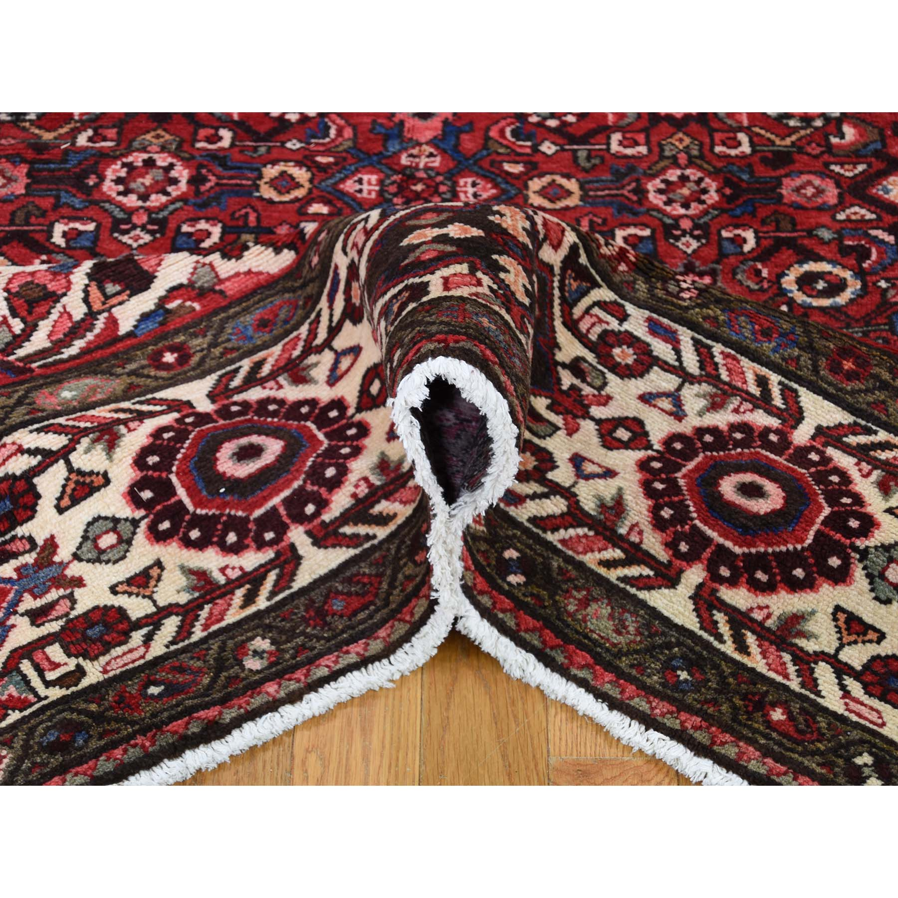7-2 x11- Red New Persian Hussainabad Pure Wool Hand-Knotted Oriental Rug