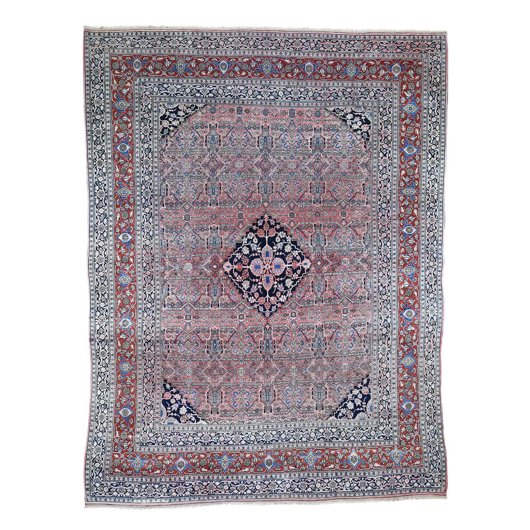"9'10""X13' Antique Persian Bijar Good Cond. Soft Full Pile Pure Wool Hand-Knotted Oriental Rug moad6eb8"